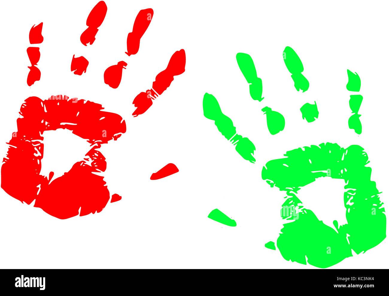 Malen mit den Fingern spiel Vorschulkinder Hand malen Stockfoto ...