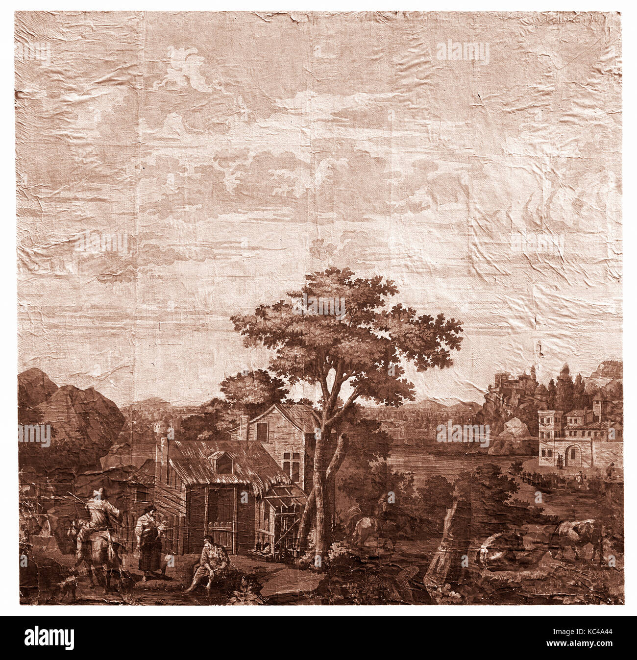 Tapeten Ca 1790 In Paris Frankreich Papier 76 1 2 X 77 In 194