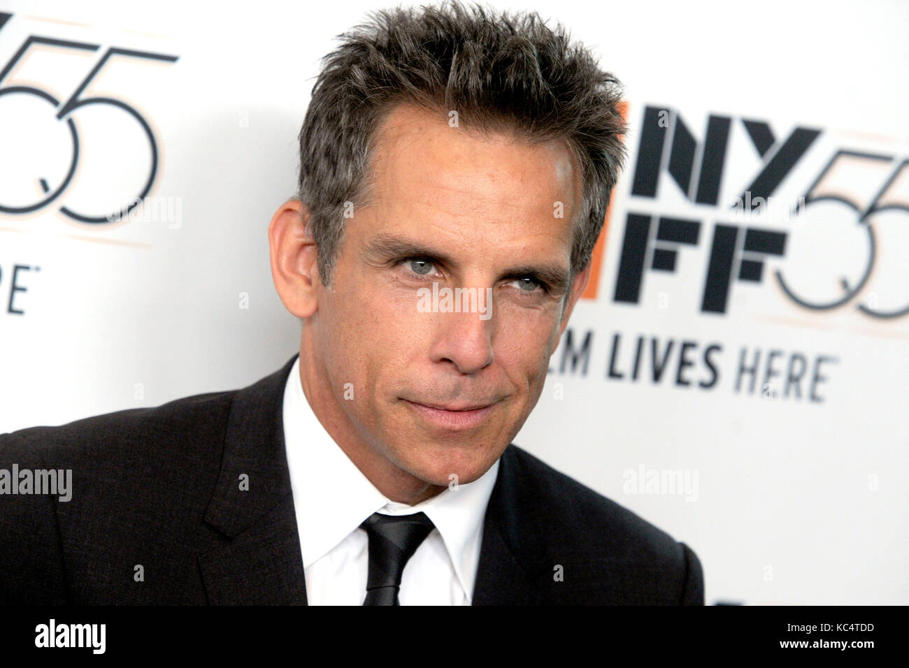 Ben Stiller besucht 'Premiere der meyerowitz Geschichten' während der 55Th New York Film Festival in Stockbild