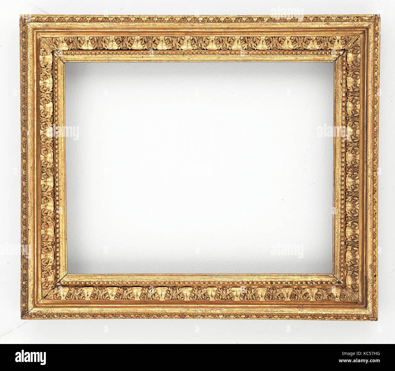 Frame, Ca. 1680-1700, Pappel, Gesamt: 19 1/2 x 22 7/8 in. (49,5 x 58,1 cm); Augen: 131/2 x 17 in. (34,3 x 43,2 cm); Stockbild