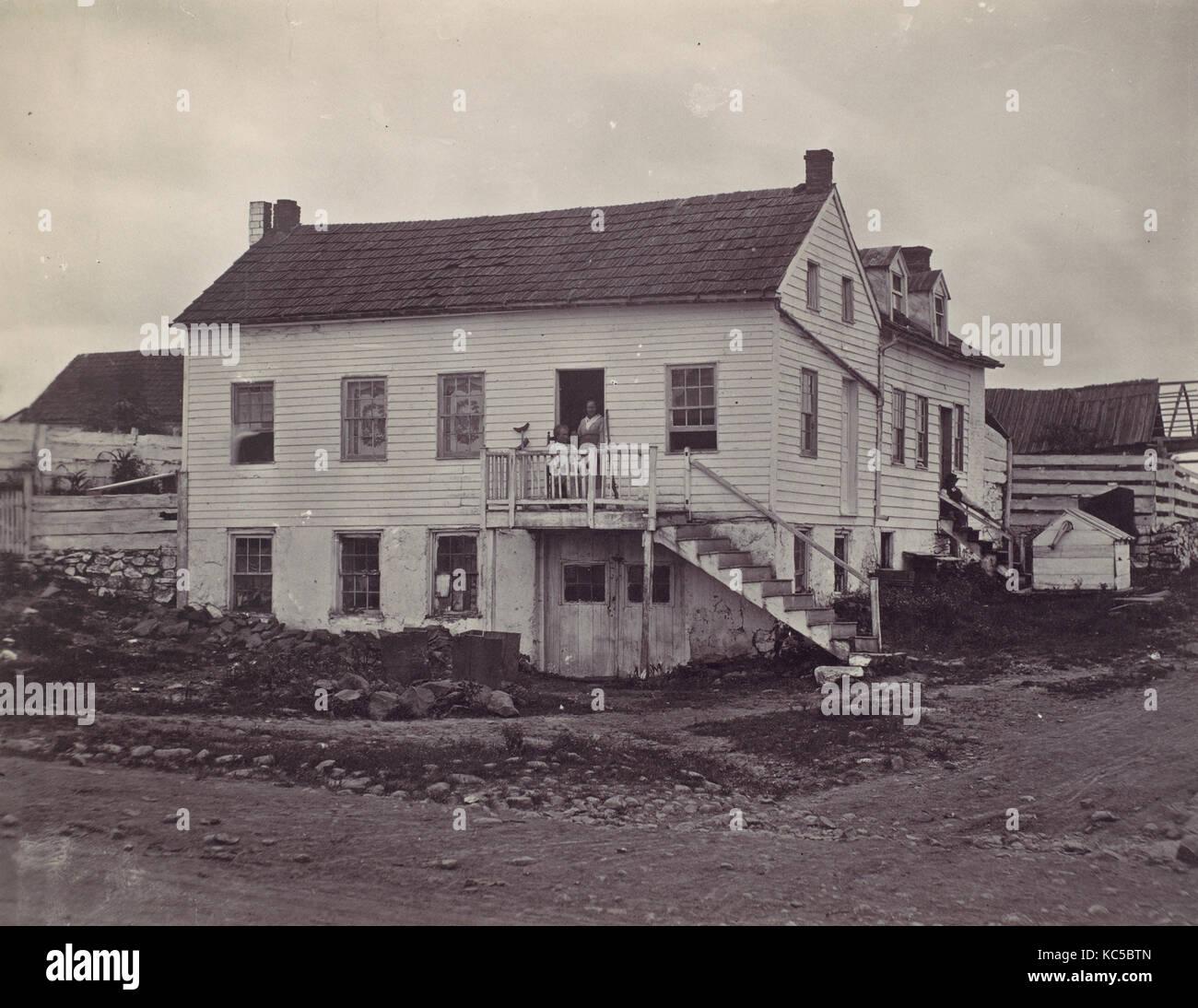 Gettysburg John Burns Haus 1863 Eiweiss Silber Drucken Aus Glas