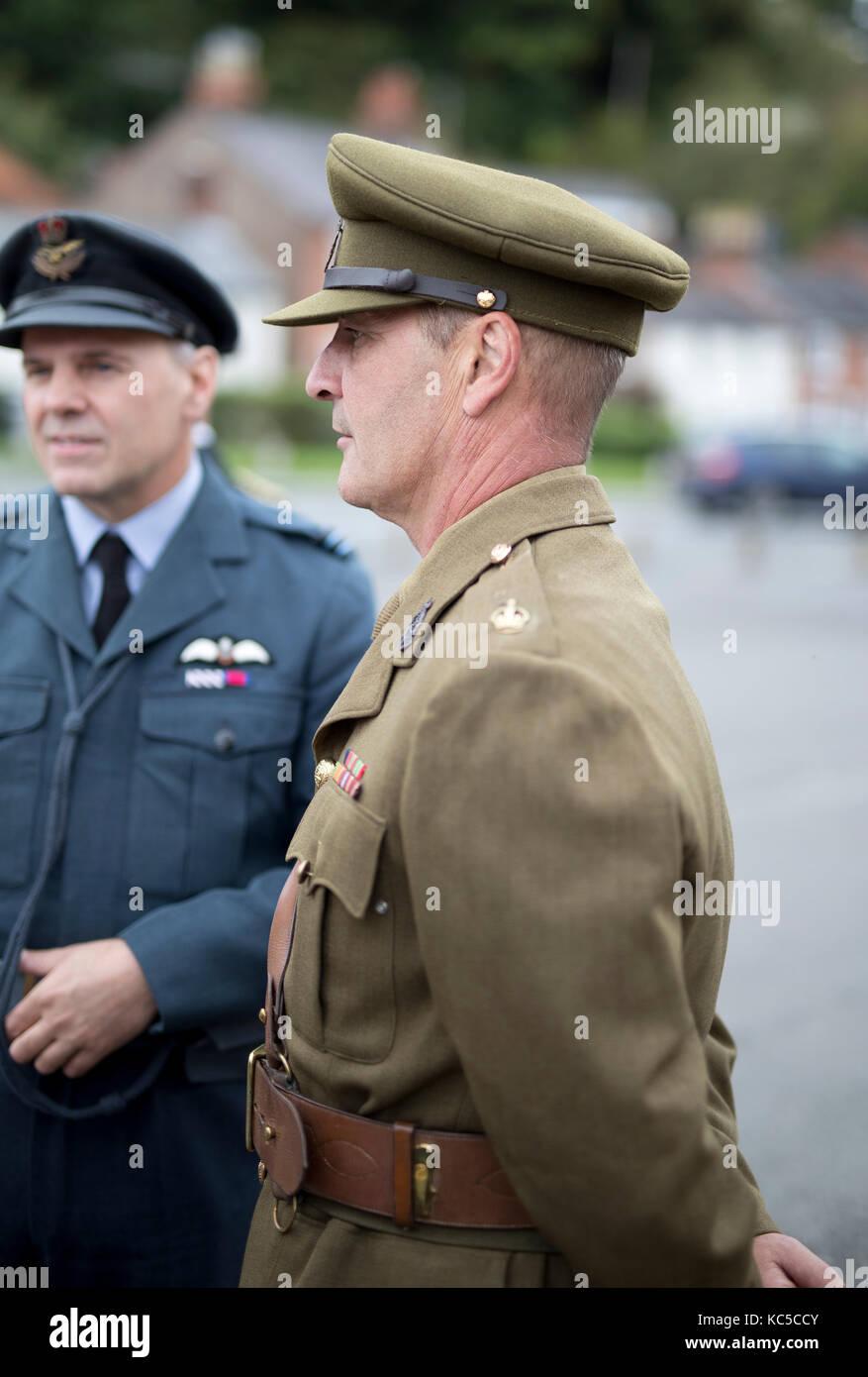 Mann 1940 Vintage British Army Uniform Während 40 Wochenende
