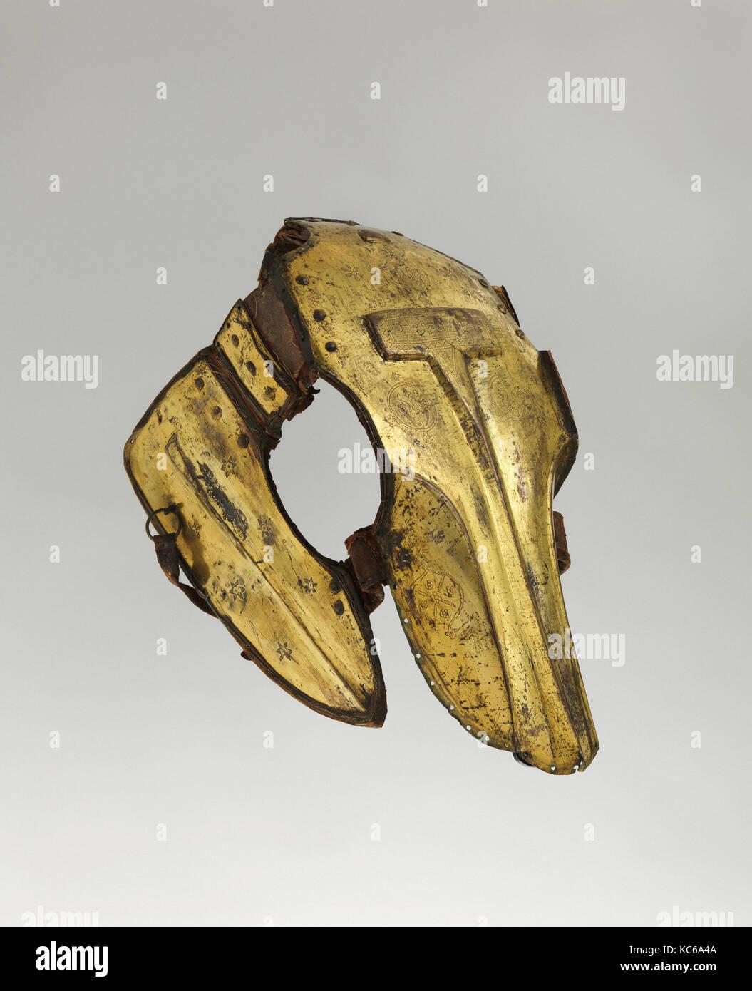 shaffron pferdekopf verteidigung aus dem 17 jahrhundert trkisch gold kupfer legierung tombak leder textil h 20 38 in 518 cm - Legierung Beispiele