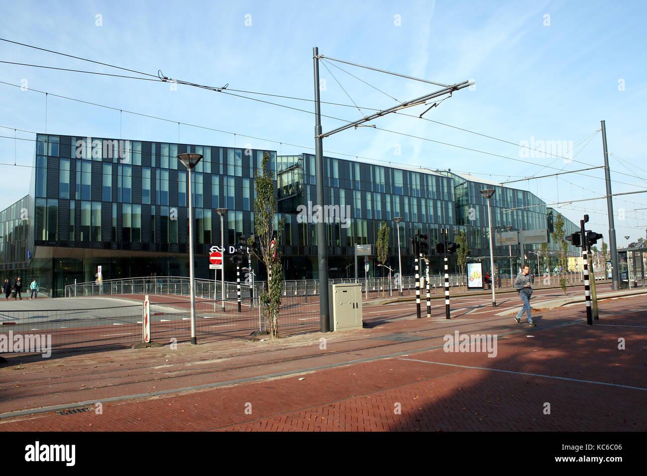 Brandheiß Hauptbahnhof Delft, Delft, Südholland, Niederlande. Stockbild