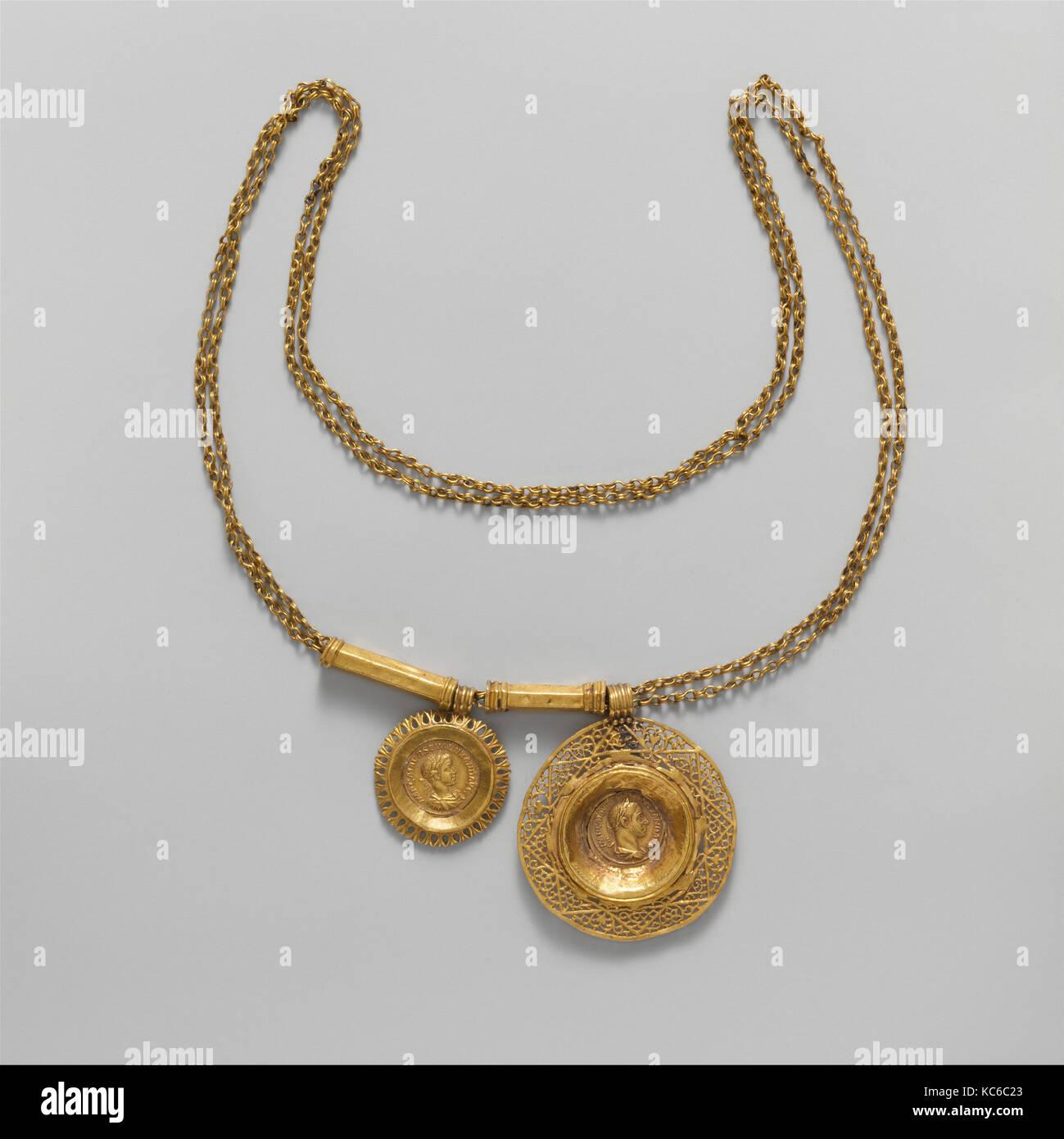 Münze Gold Halskette Mit Anhänger Imperial 3jahrhundert Ad