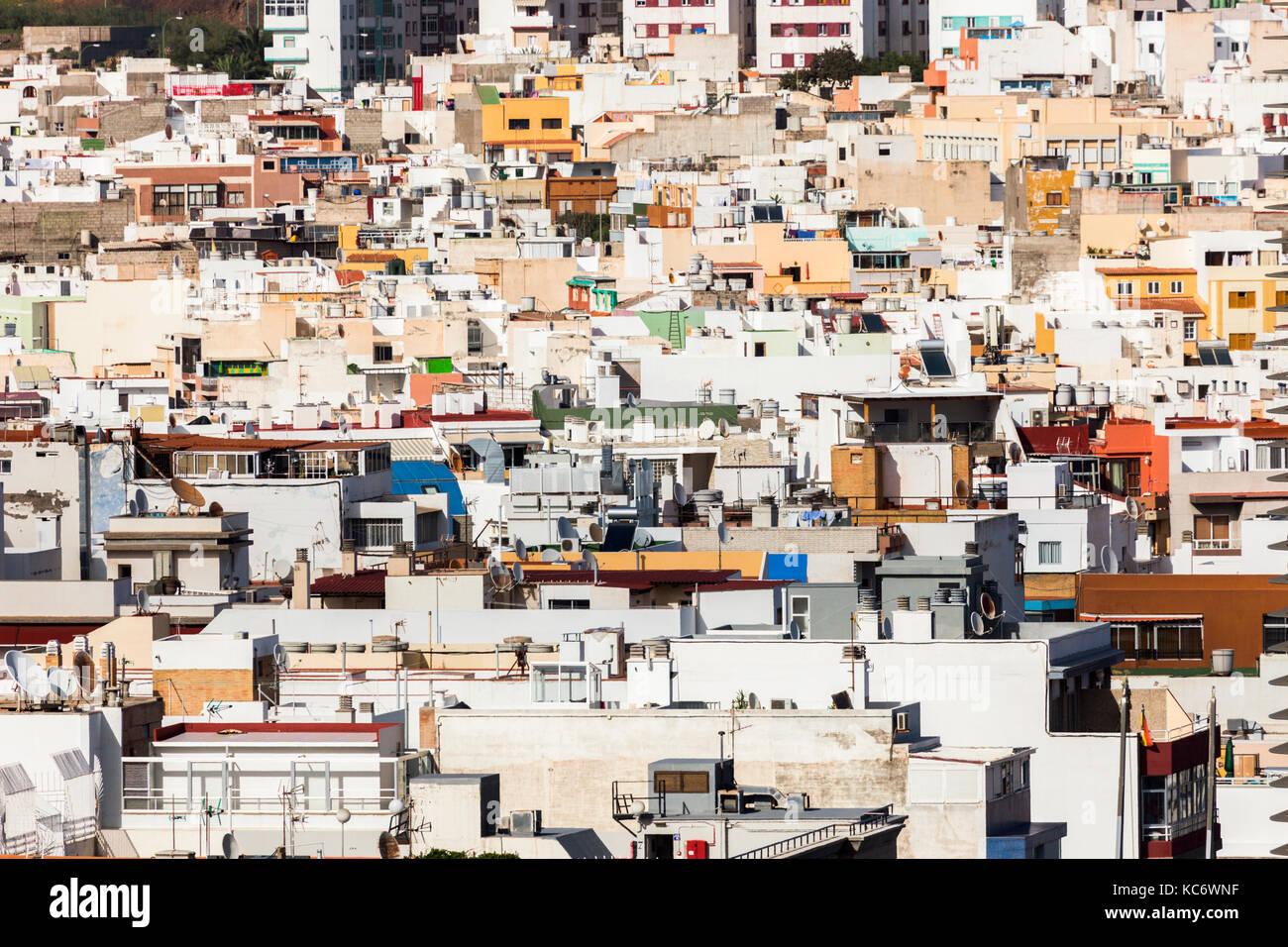 Spanien, Kanarische Inseln, Gran Canaria, Las Palmas Gebäude Exterieur Stockbild