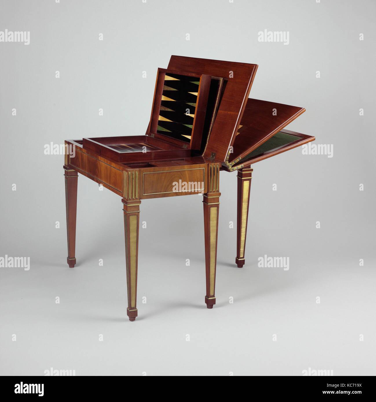 Spiel Tisch Ca 1780 83 Deutsch Neuwied Am Rhein Eiche Und