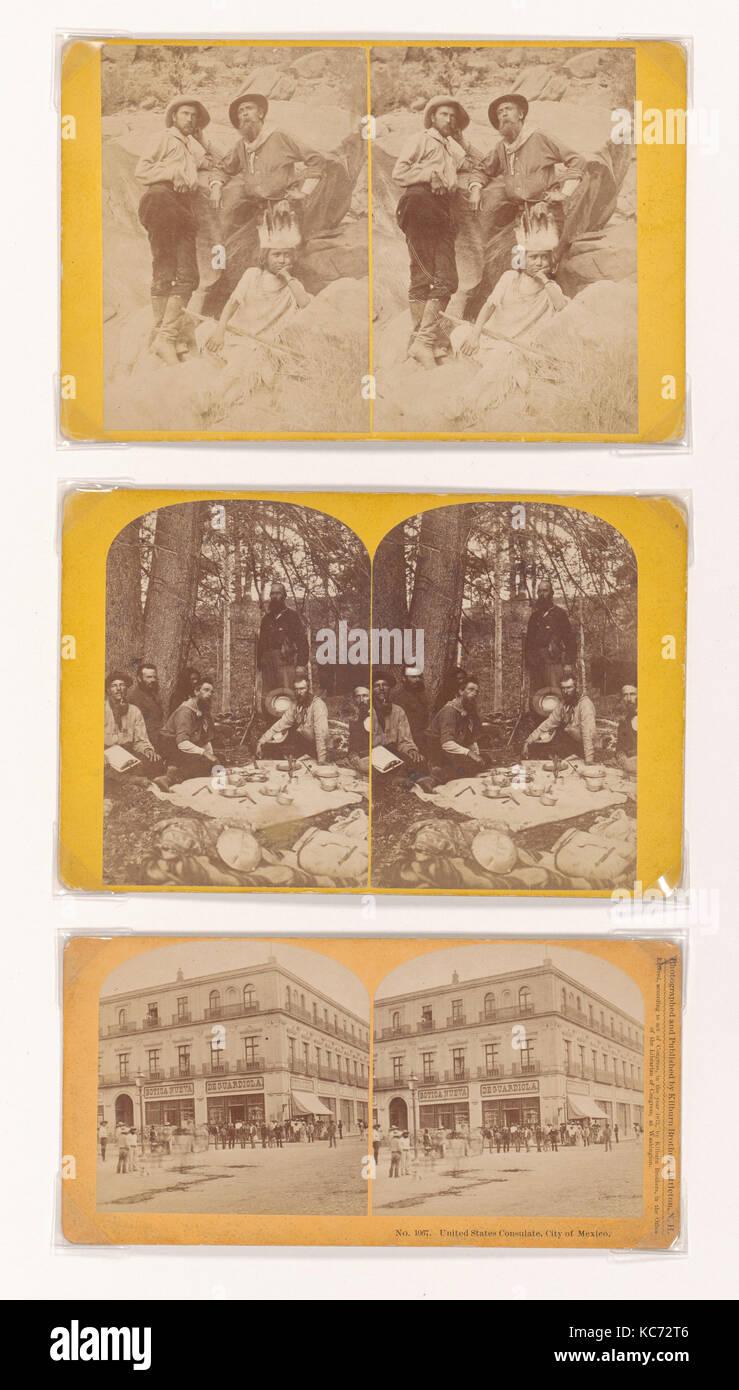 Drei stereographs, 1873, drei stereographs, an den Ecken auf ...