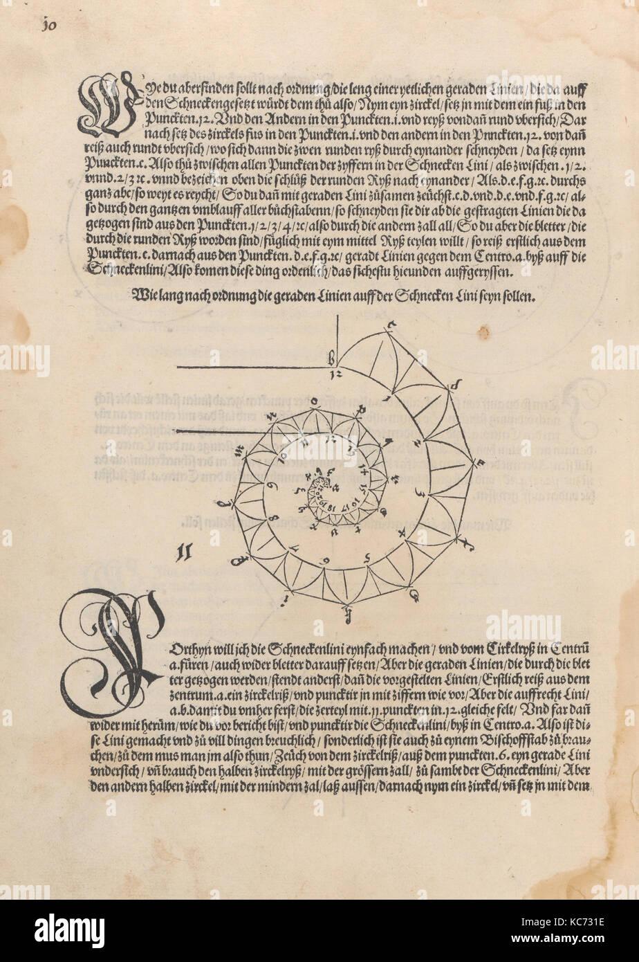 Underweysung der Messung mit dem zirckel un-richt scheyt, Albrecht Dürer, 1525 Stockbild
