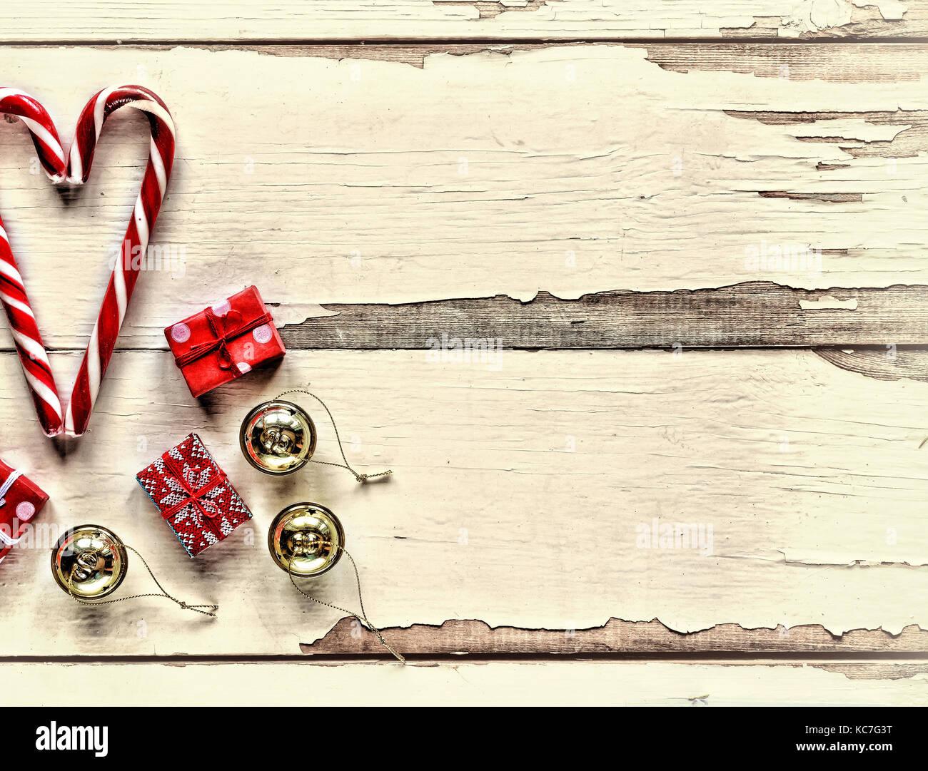 Weihnachten, Neujahr, Valentinstag. Weihnachten Süßigkeiten und ...