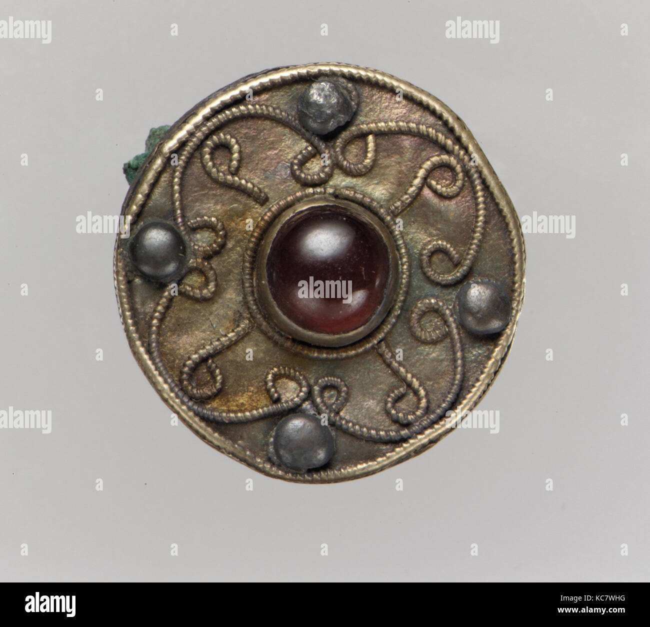 Festplatte Brosche, 7. Jahrhundert, fränkischen, gold, silber Core ...