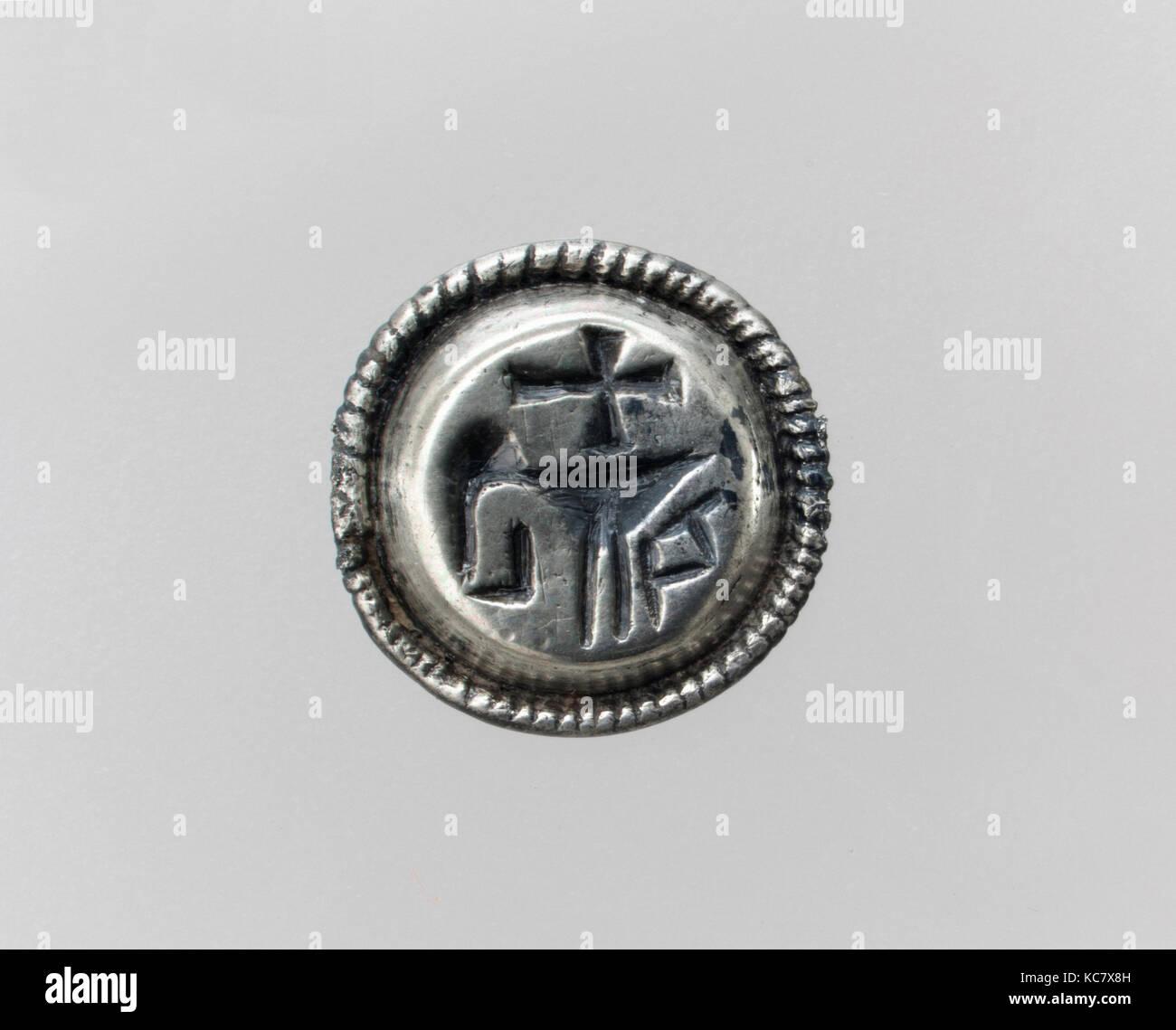 Oben auf einem Siegelring, 7. Jahrhundert in Frankreich ...