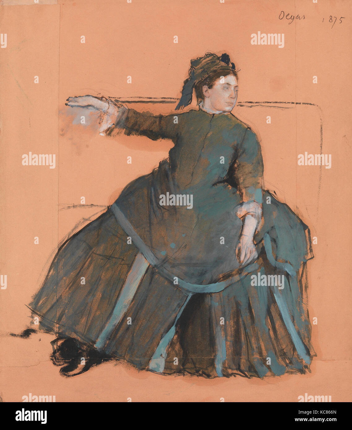 Frau auf einem Sofa, 1875, öl Farben frei gemischt mit Terpentin ...
