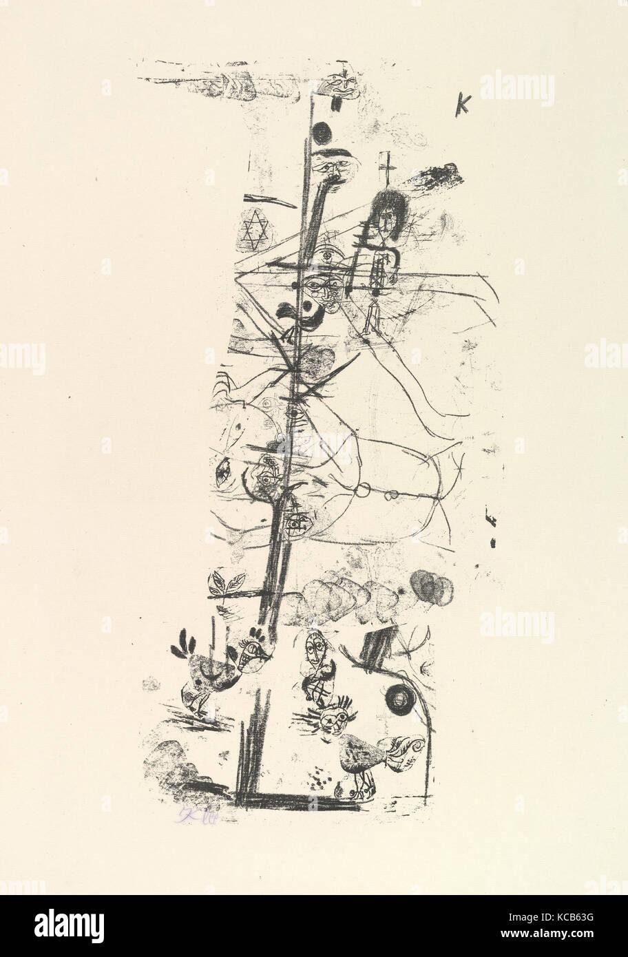 Vogel Komödie (Vogelkomödie), 1918, Lithographie, Blatt: 19 15/16 x 14 5/16 in. (50,6 x 36,4 cm), Drucke, Stockbild