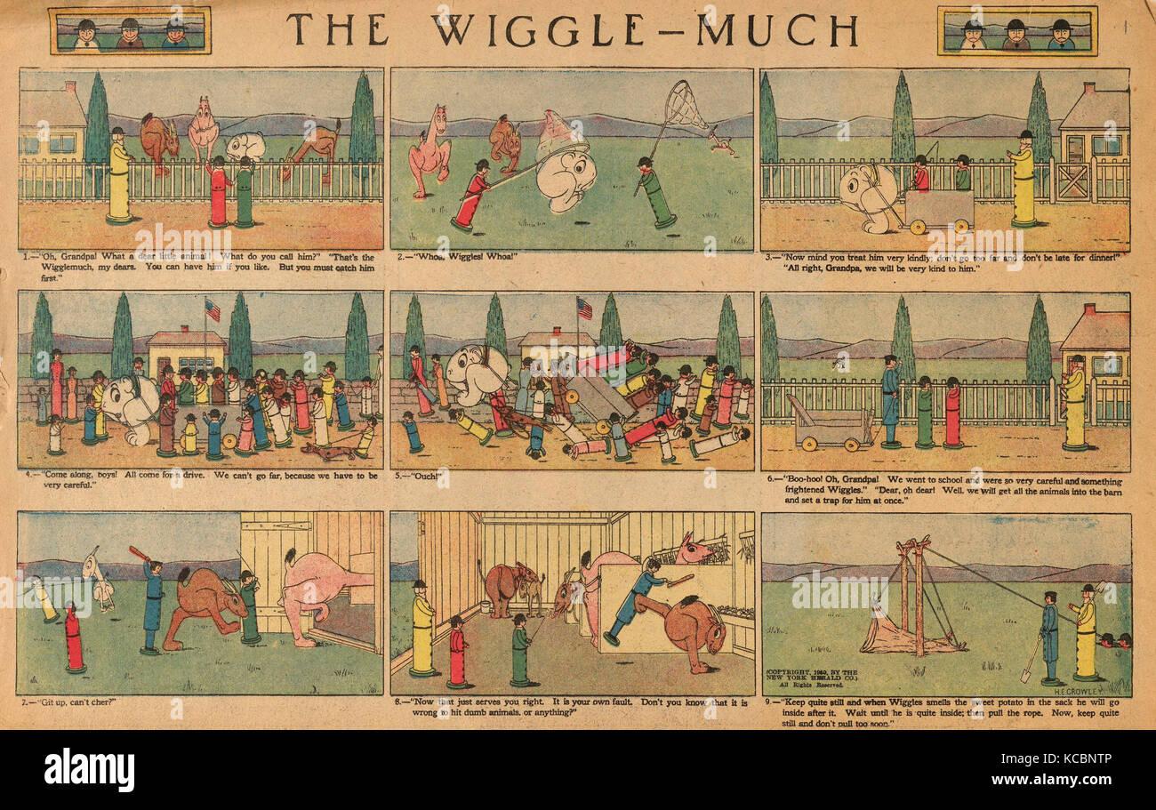 Zeichnungen und Drucke, Ausdrucken, die Wackeln viel Comic, Nr. 1 (in der New York Herald, 20. März 1910 veröffentlicht), Stockbild