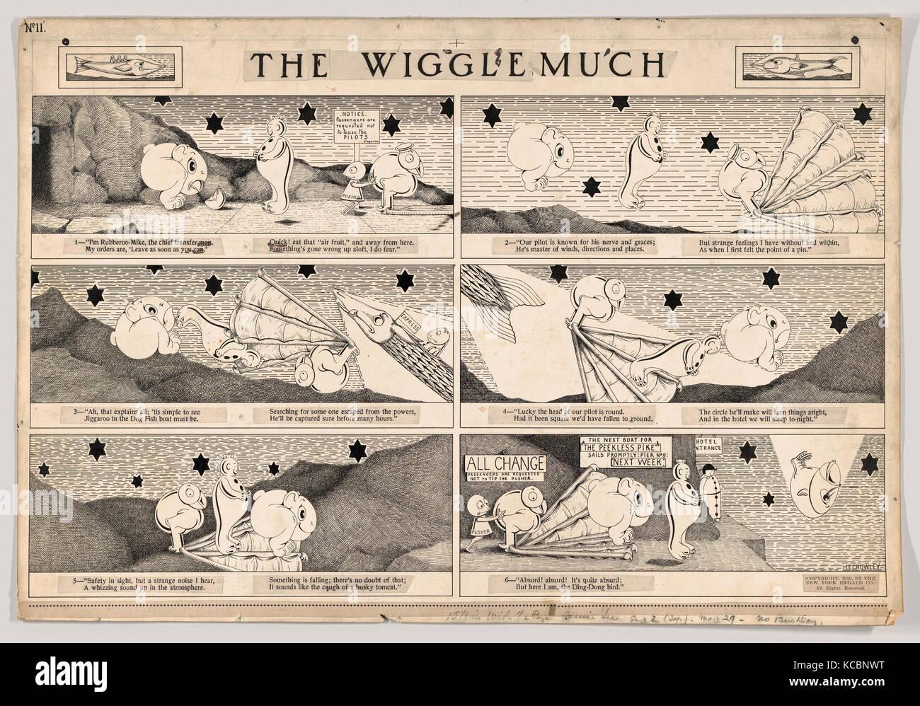 Zeichnungen und Druckgraphik, Zeichnung, Dummy für die Viel Wackeln, Comic, Nummer 11 (von der New York Herald, Stockbild