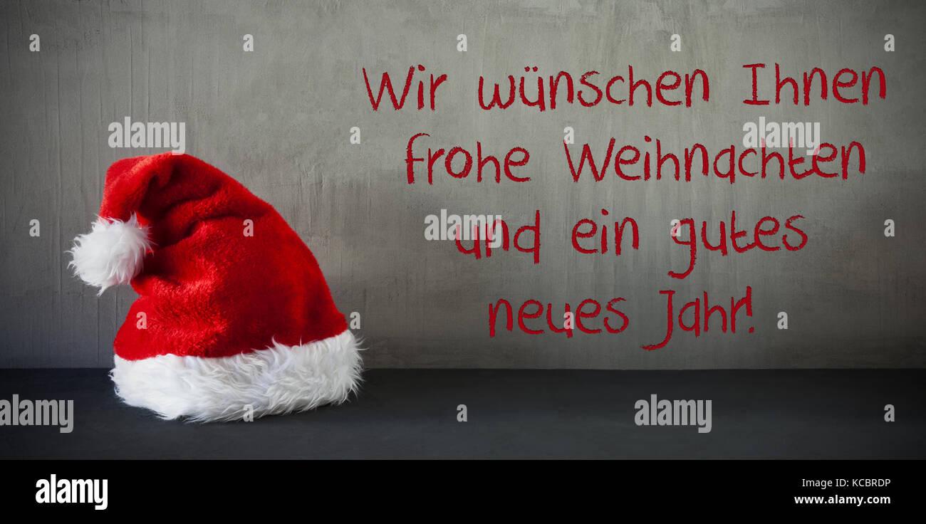 Santa Hut, Beispiele jarh Frohes neues Jahr bedeutet Stockfoto, Bild ...