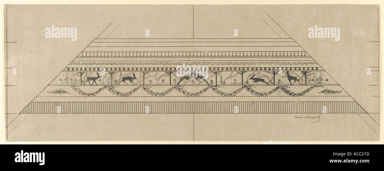 Hirsch und Blumenmuster Rahmen, Théodore Roussel, 1897-99 Stockbild