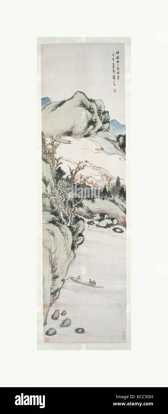 清, 吳熙載, 山水, 軸, Landschaft, Qing Dynastie (1644 - 1911 ...