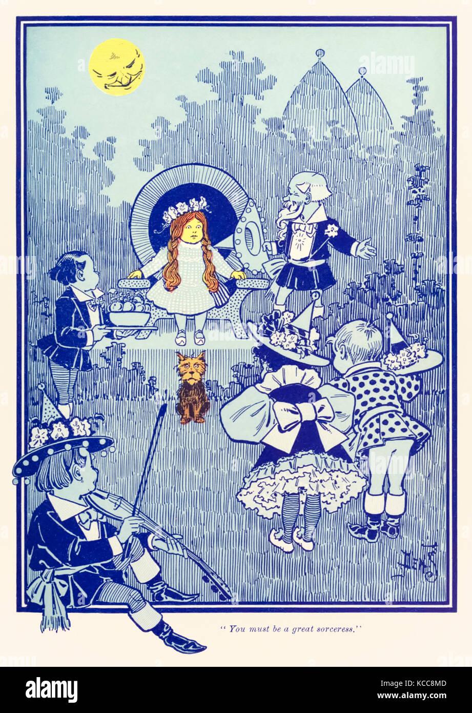 """""""Sie müssen eine große Zauberin."""" aus """"Der Zauberer von Oz"""" von L.Frank Baum (1856 Stockbild"""