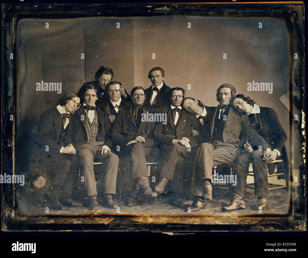 Hutchinson Familie Sänger, 1845, daguerreotypie, Bild: 14,4 x 19,7 cm (5 11/16 x 7 3/4 in.), Fotografien, unbekannt Stockbild