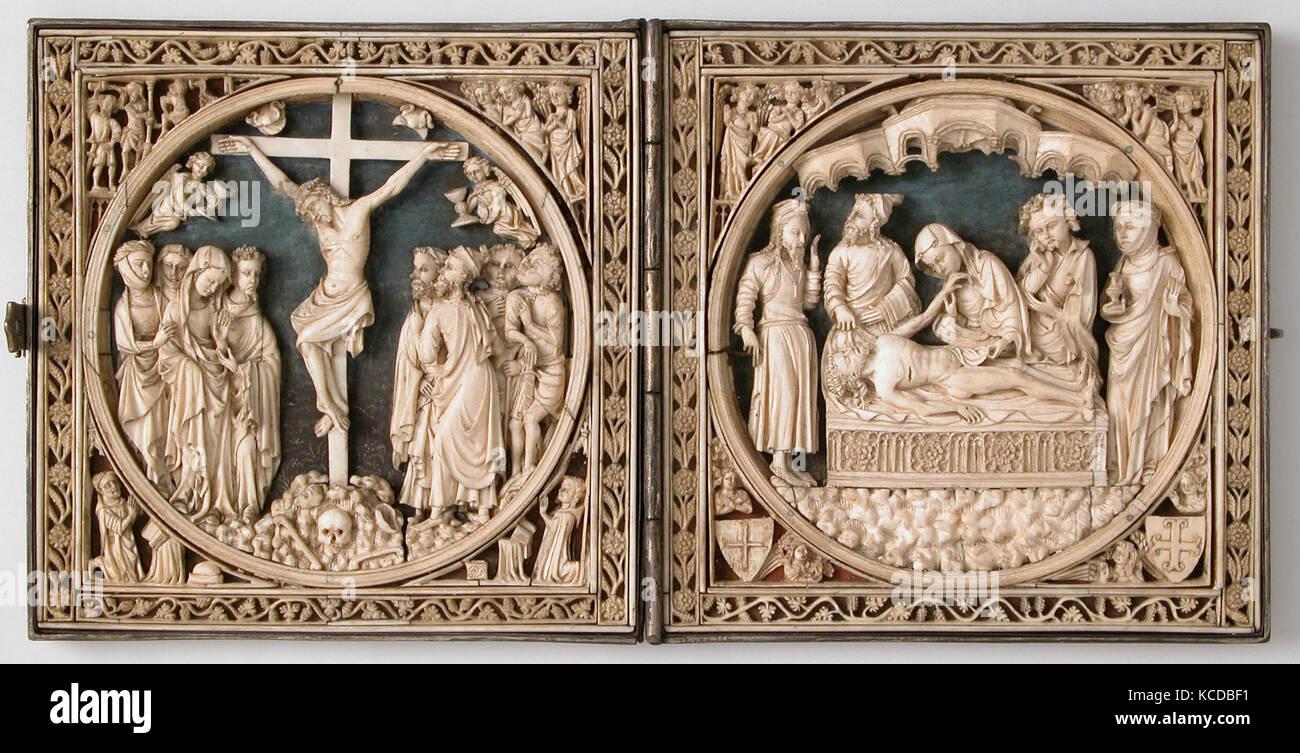 Diptychon, 1400 - 1450, französischer oder Süden niederländischen ...