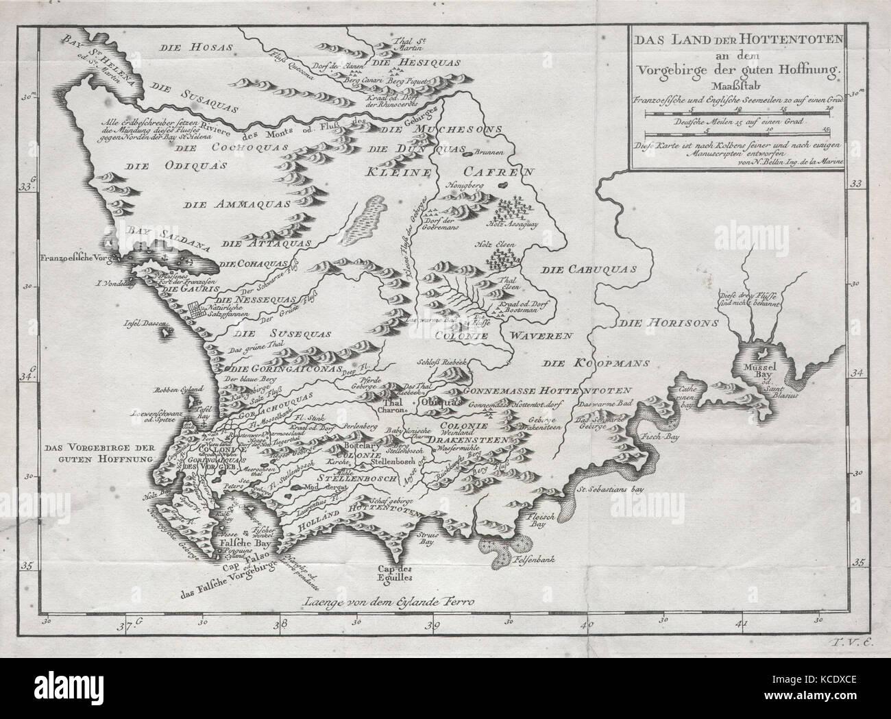 1757 Bellin Karte Von Sudafrika Und Das Kap Der Guten Hoffnung