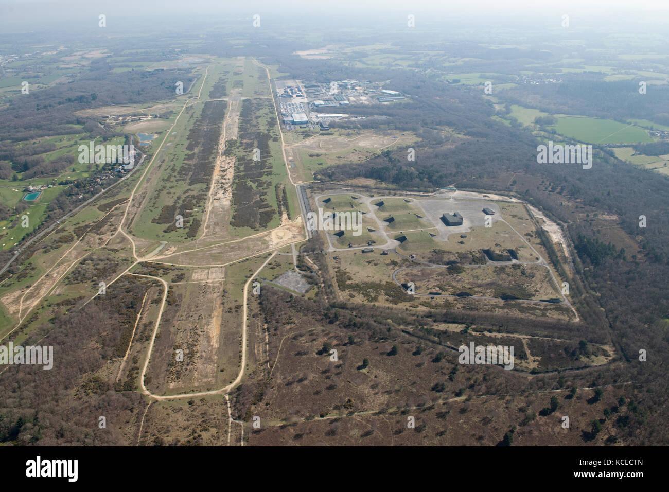 Greenham Common, West Berkshire. Ehemalige raf und usaaf Airfield, mit dem Gama-Komplex (Cruise missile Lagerung Stockbild