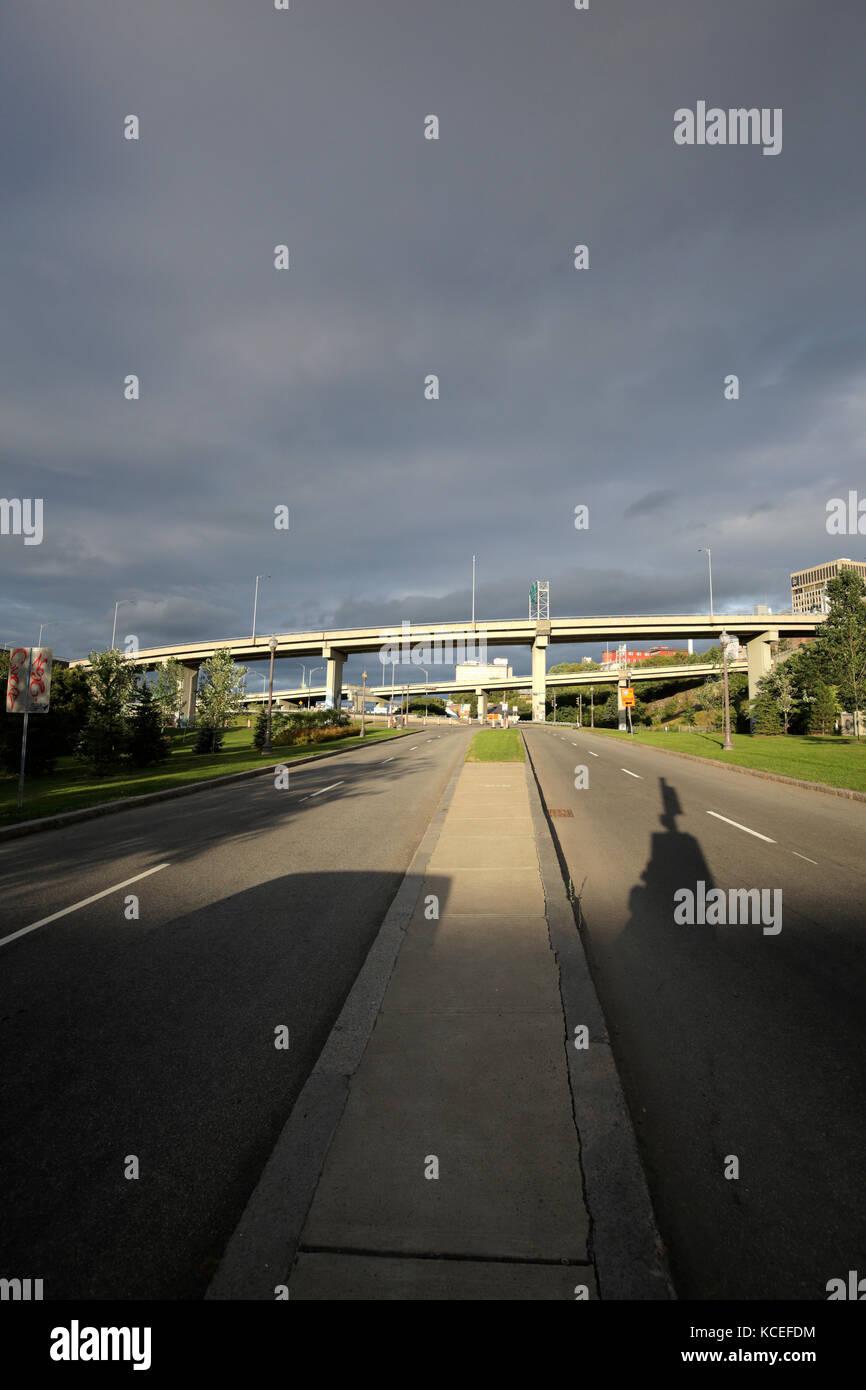 Infrastruktur in Quebec Cityrod Stockbild