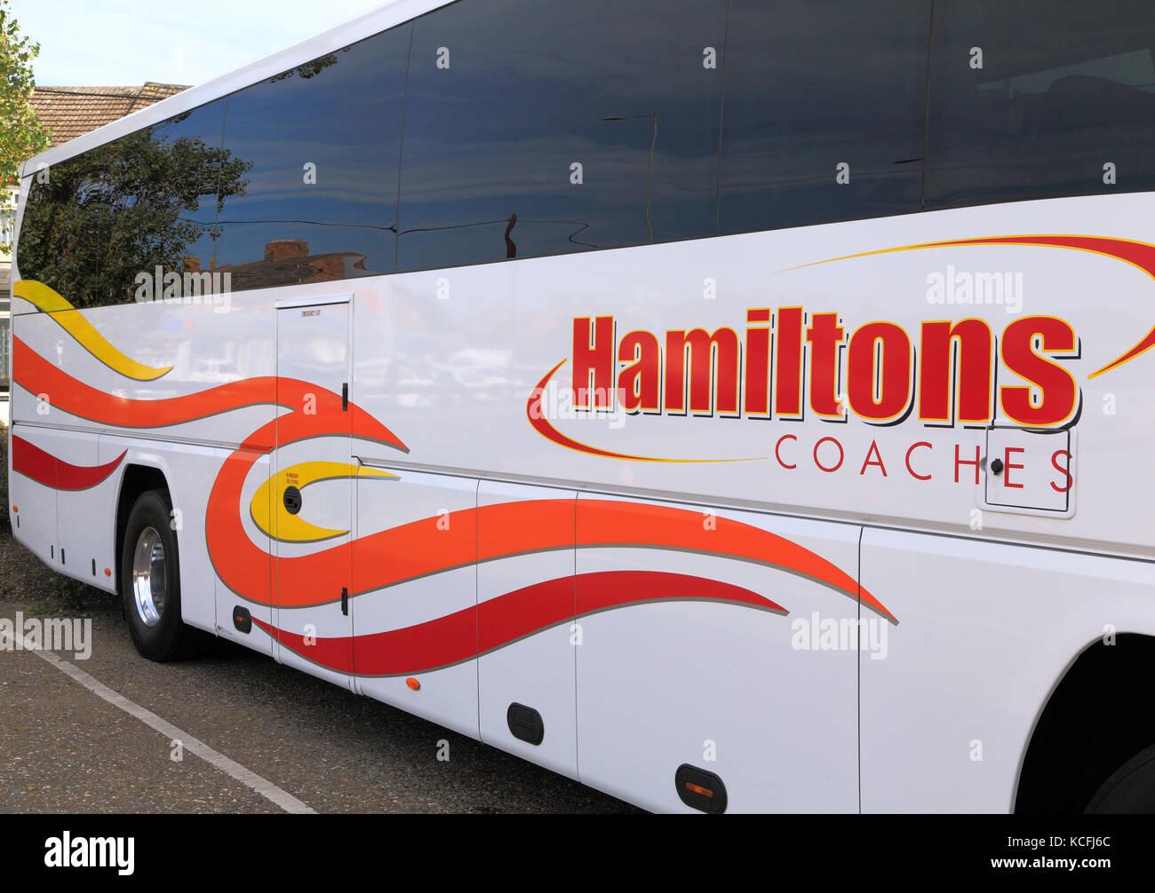 Hamilton's Coaches, Trainer, Tagesausflüge, Reise, Ausflüge. Ausflug, Urlaub, Ferien, Reisen unternehmen, Stockbild