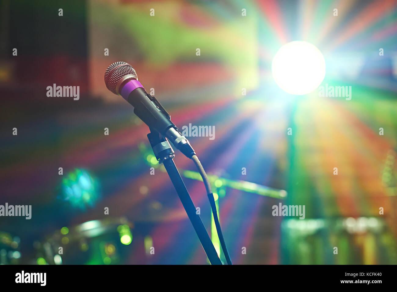 Mikrofon bei Konzert Stockbild
