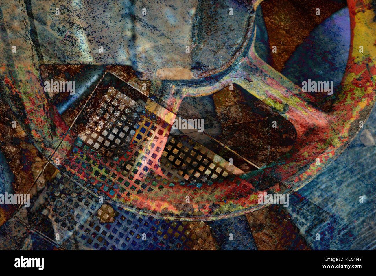 Abstrakter farbiger Hintergrund mit Rad-abstrakten farbigen Hintergrund mit Rad Stockbild
