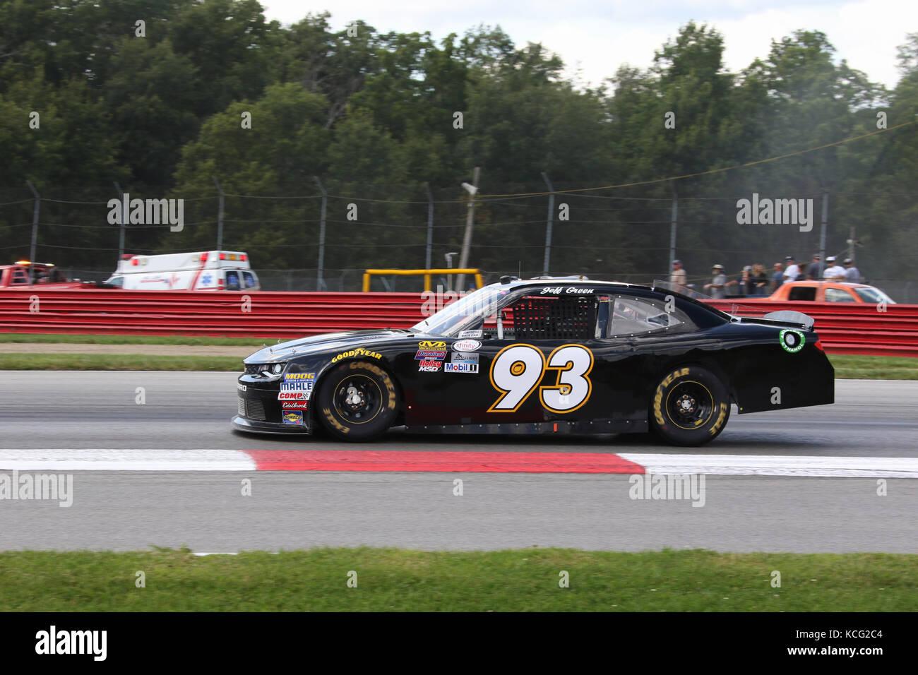 Jeff Green. Auto 93. XFINITY NASCAR Rennen. Mid-Ohio Sports Car Course. Lexington, Mansfield, Ohio, USA. Stockbild