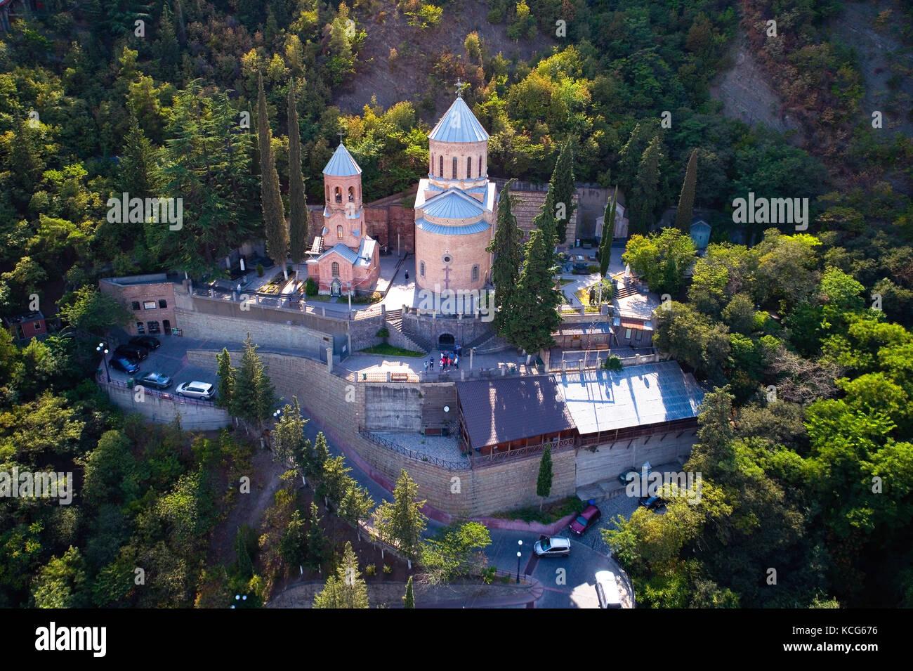 Tiflis, Georgien, 27. August 2017: Kirche von St. David. Stockbild