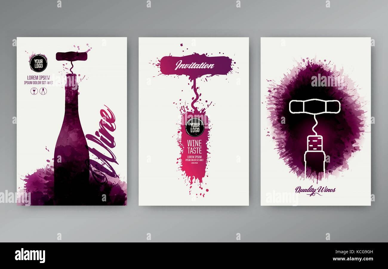 Design Vorlagen Hintergrund Wein Flecken. Geeignet für Werbeaktionen ...