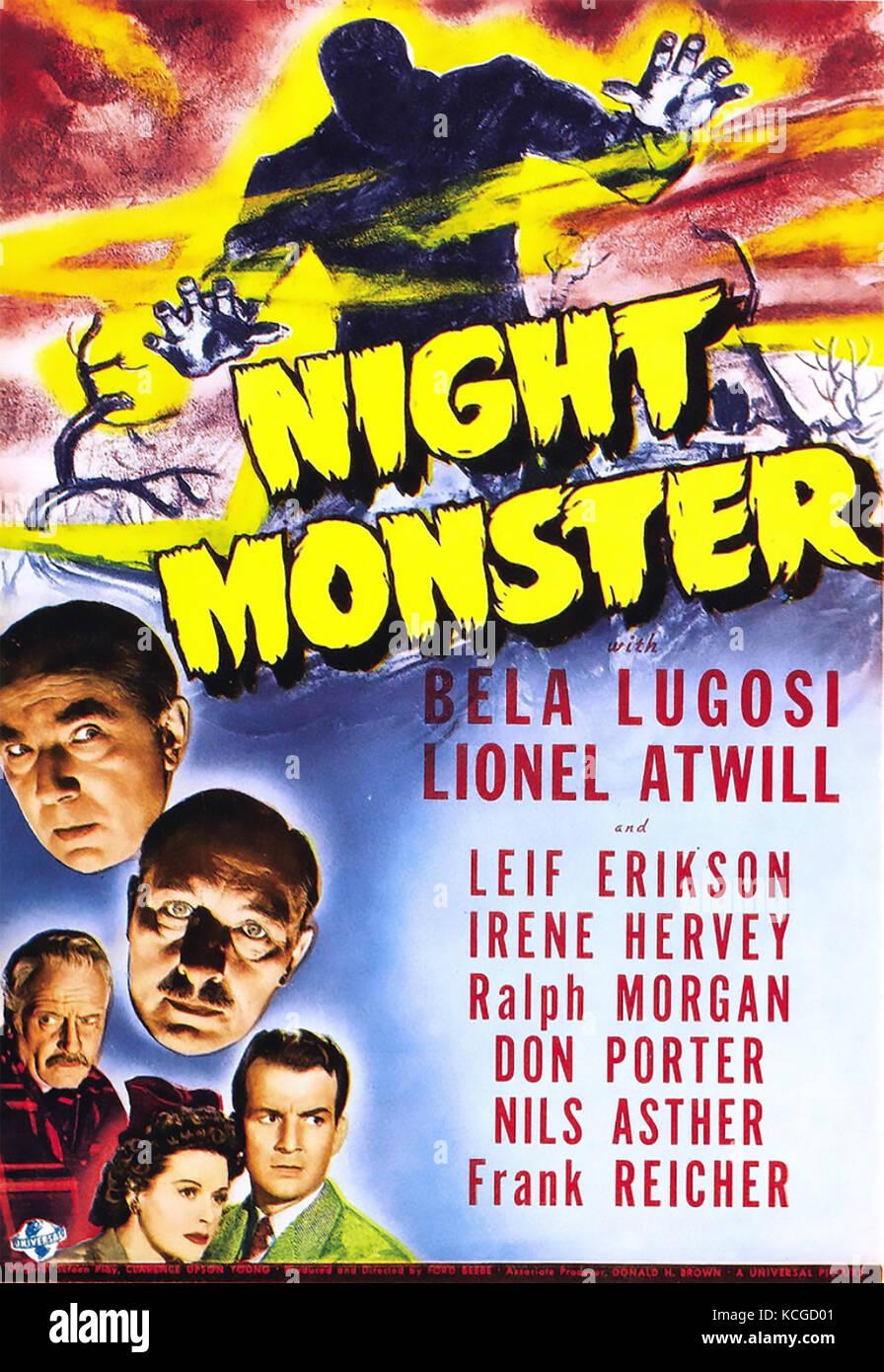 Nacht monster 1942 Universal Pictures Horror Film mit Bela Lugosi Stockbild