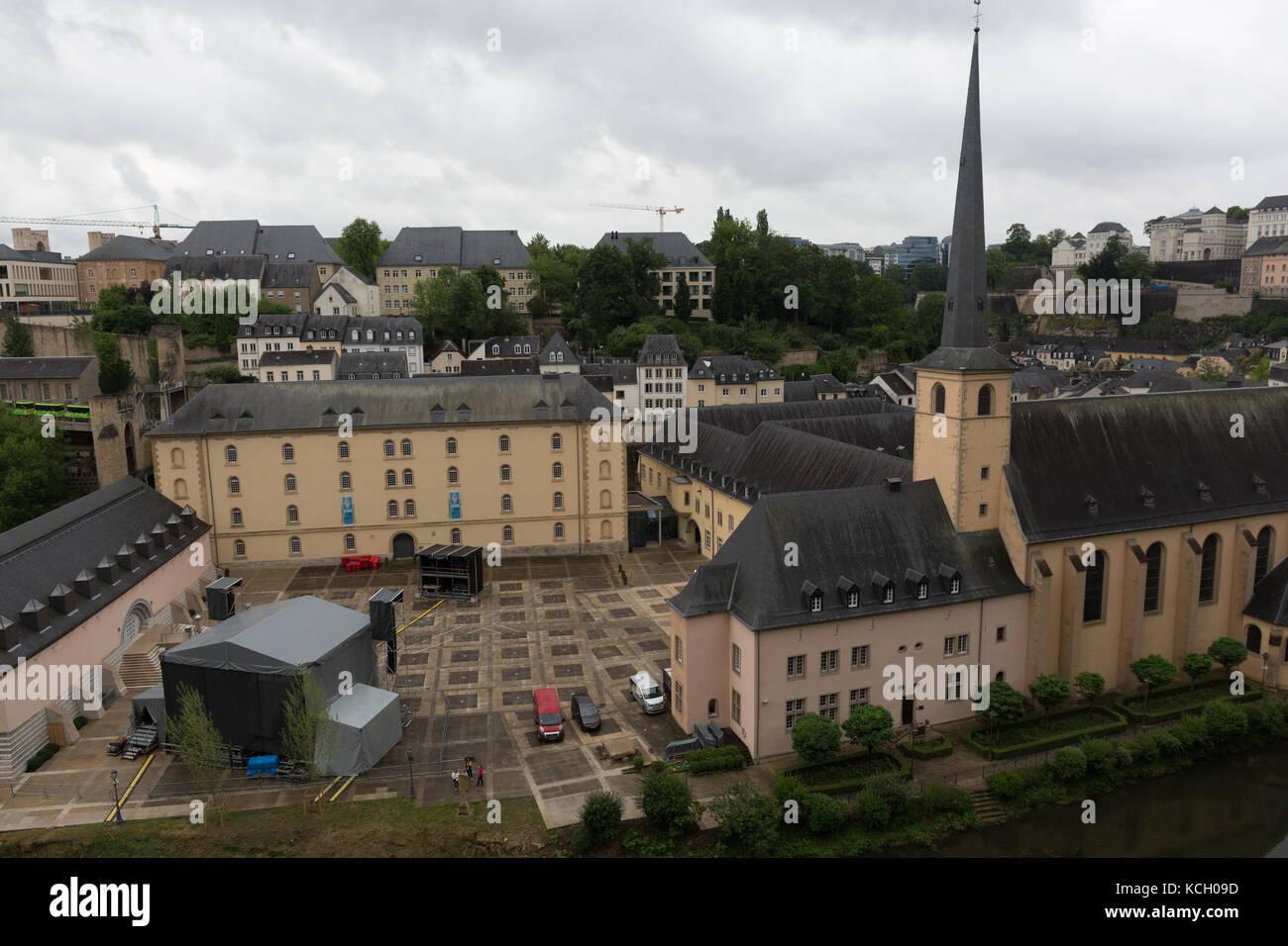 Neumünster Abbey, Luxemburg Stockbild
