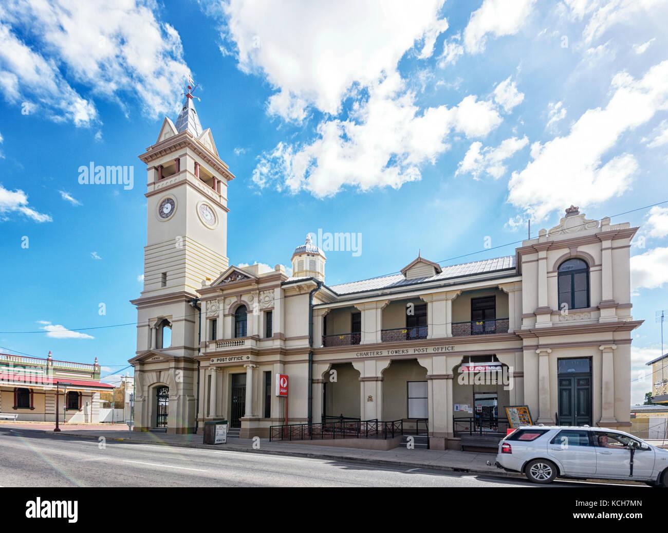 Postgebäude in Charters Towers in Queensland, Queensland, Australien Stockfoto