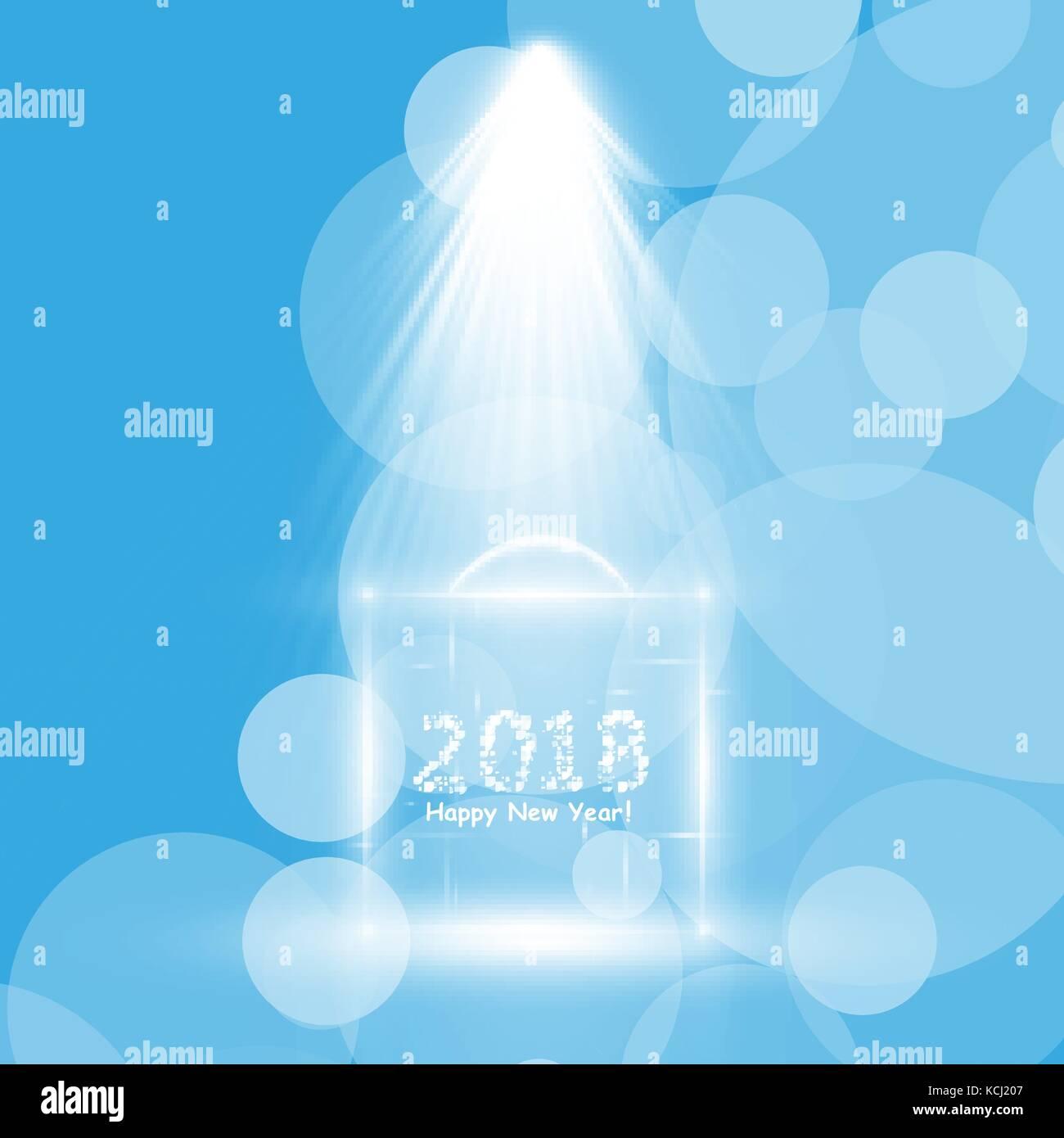 Christmas Party Poster. Frohes neues Jahr 2018 Flyer, Grußkarten ...