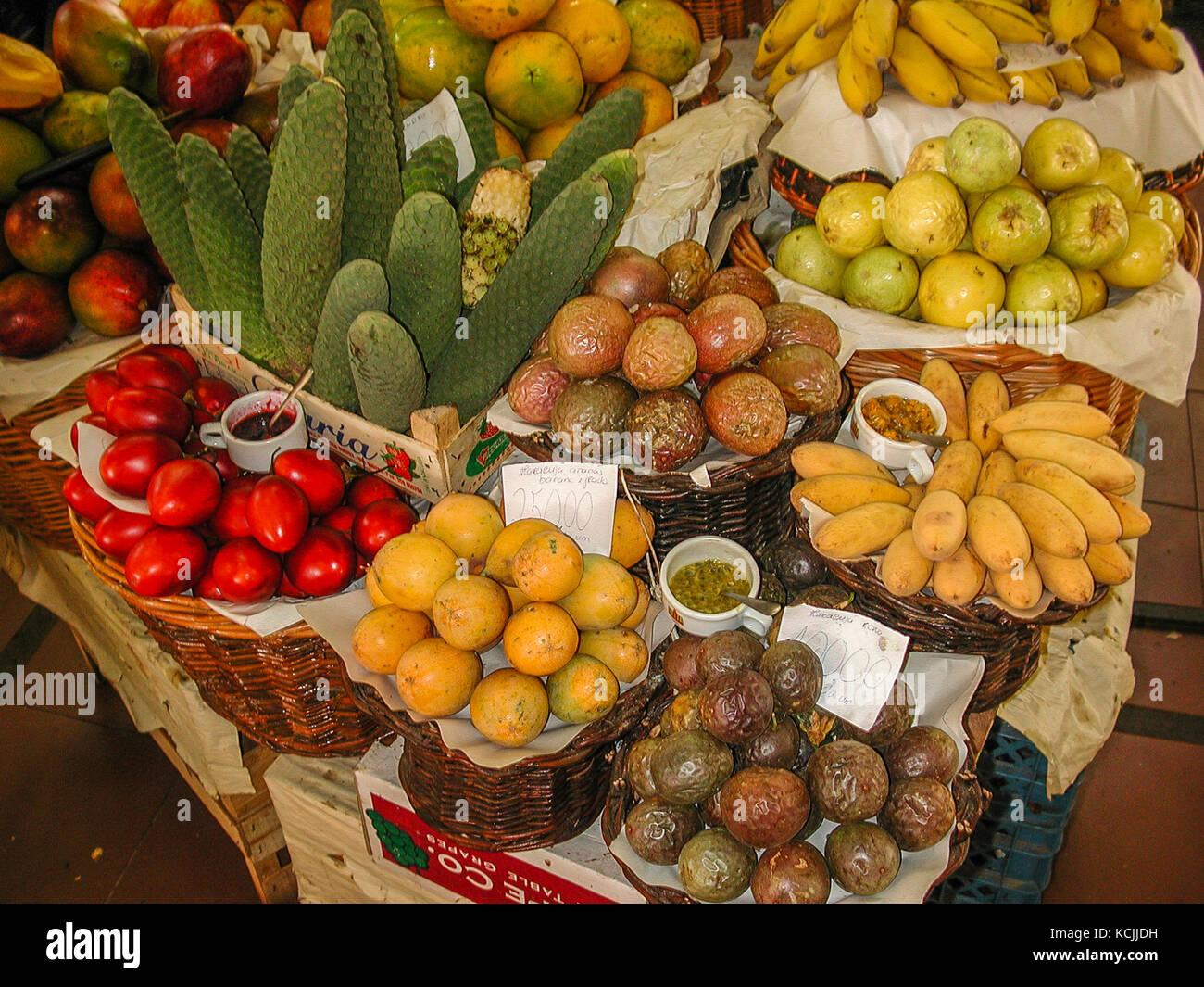 Mercado dos Lavradores, Funchal, Madeirã, Portugal Stockbild
