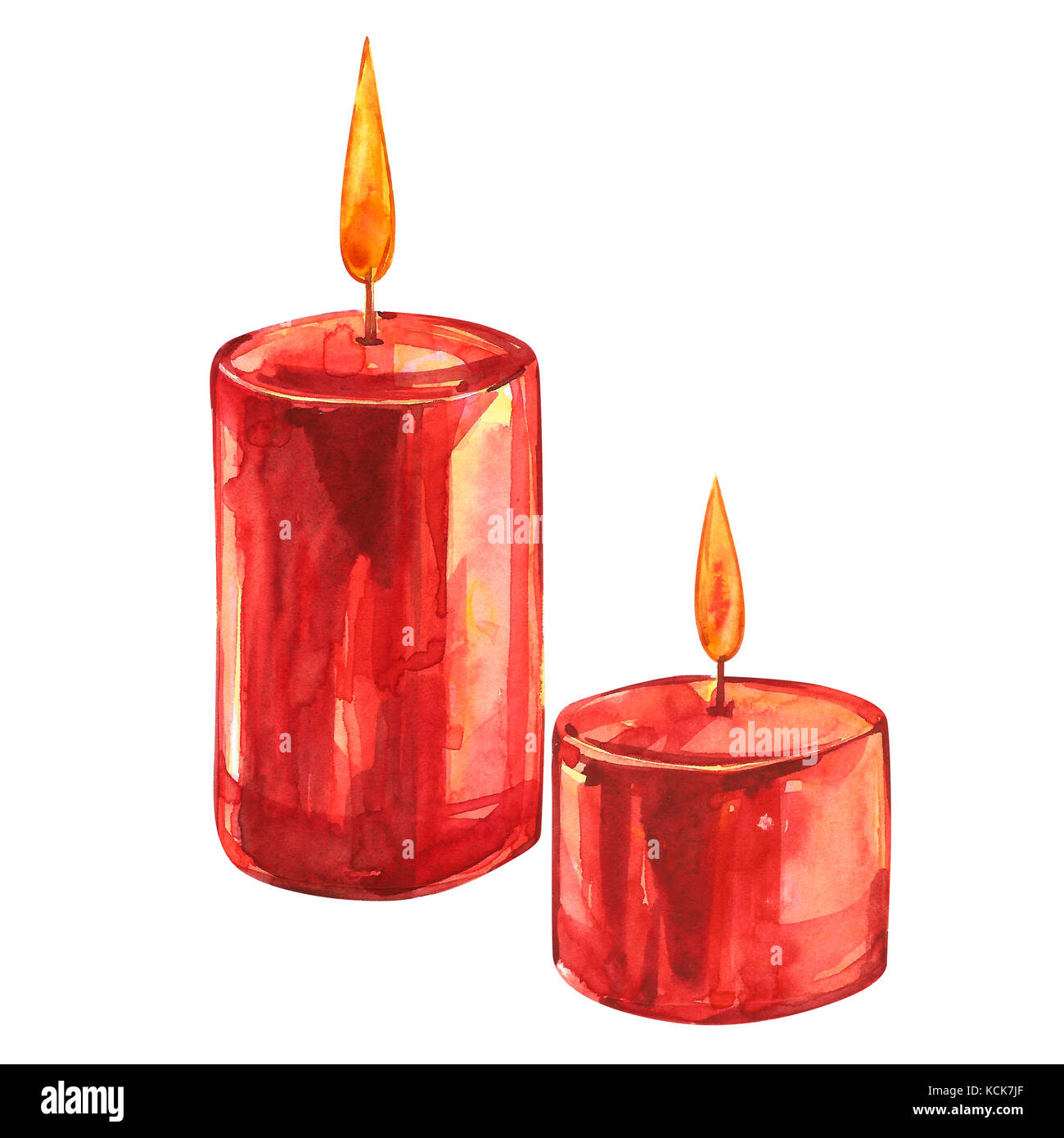 Aquarell weihnachten clipart rote kerzen auf wei em - Aquarell weihnachten ...