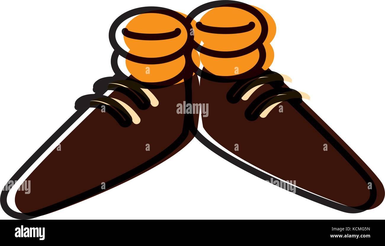 Lustige Schuhe Cartoon Vektor Abbildung Bild 162720929 Alamy