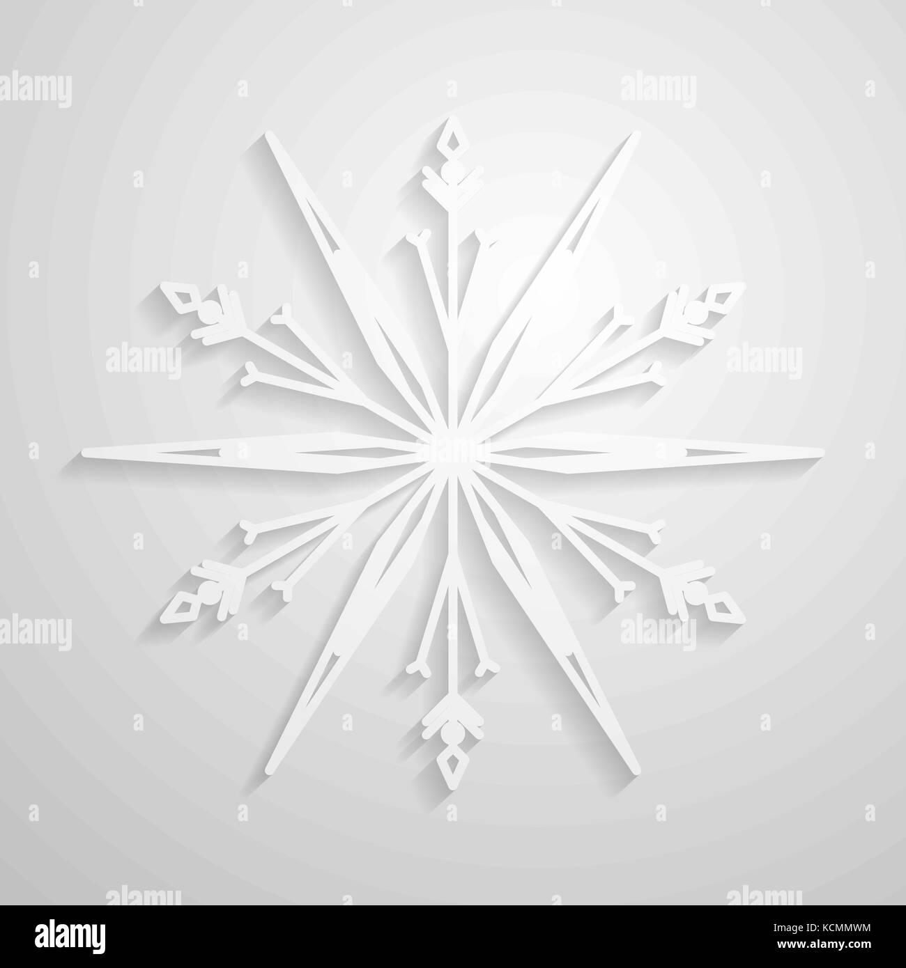 Vektor Schneeflocke Papier Schneeflocken Design Minimalistische