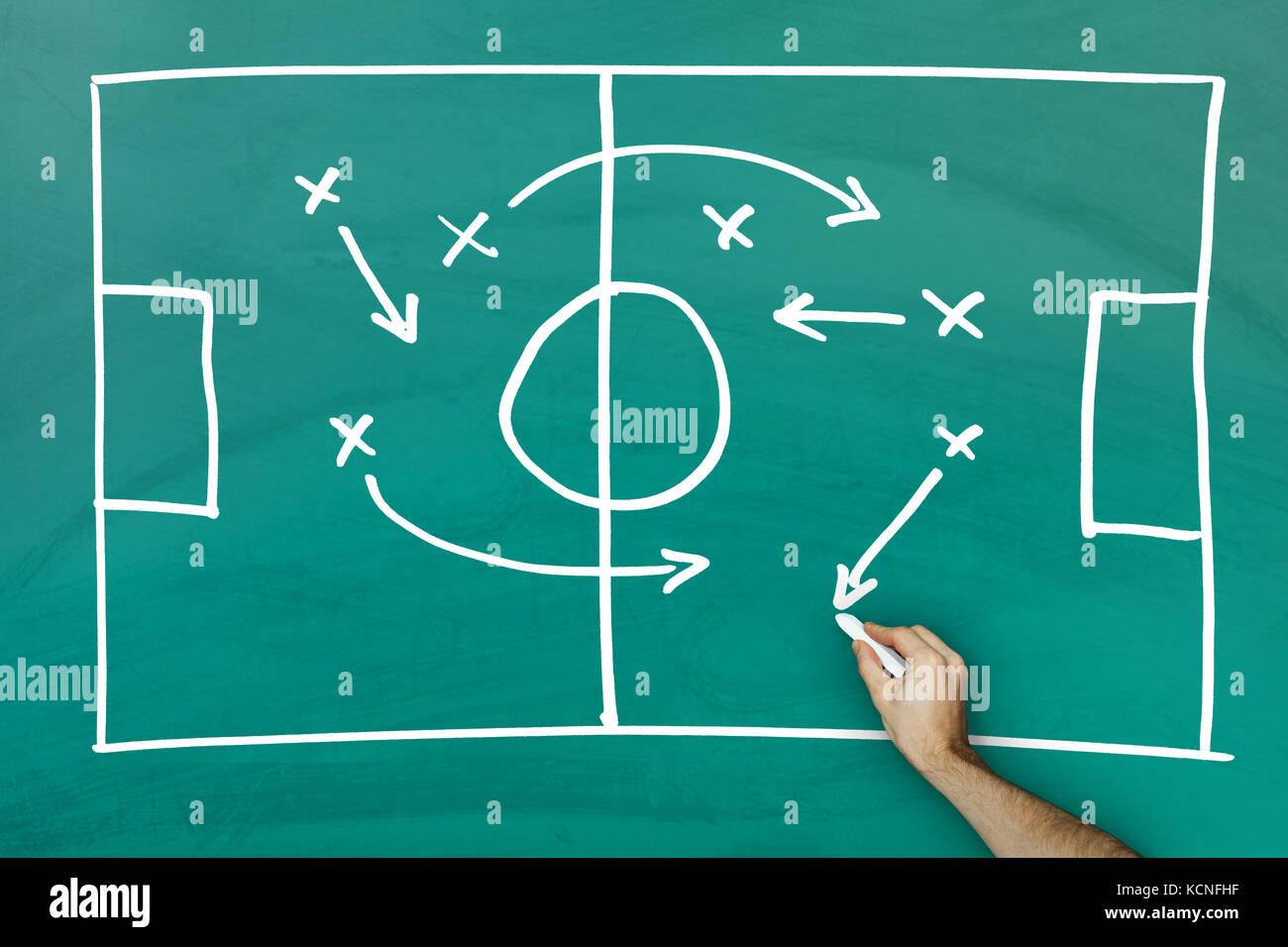 Football Field On Blackboard Stockfotos & Football Field On ...