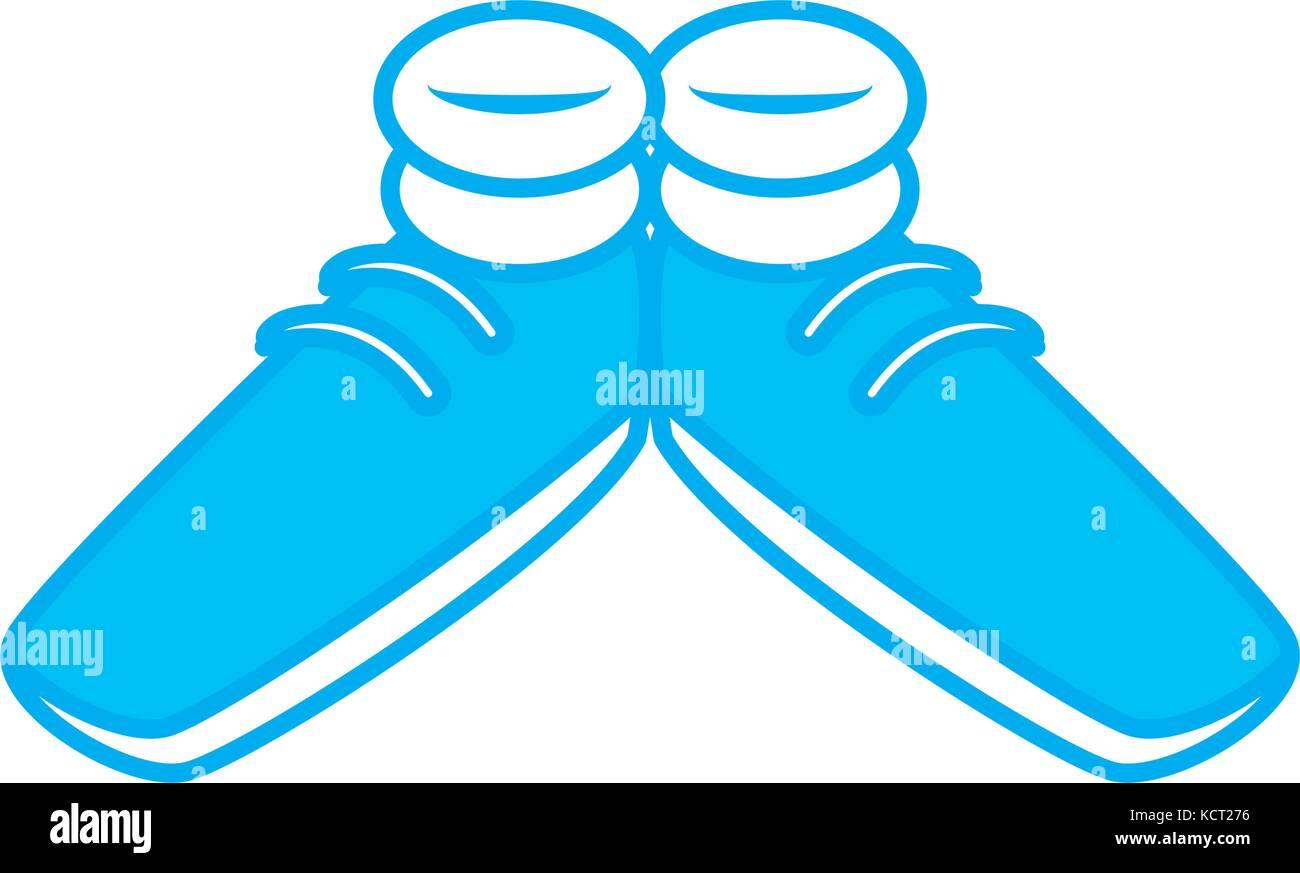 Lustige Schuhe Cartoon Vektor Abbildung Bild 162797802 Alamy