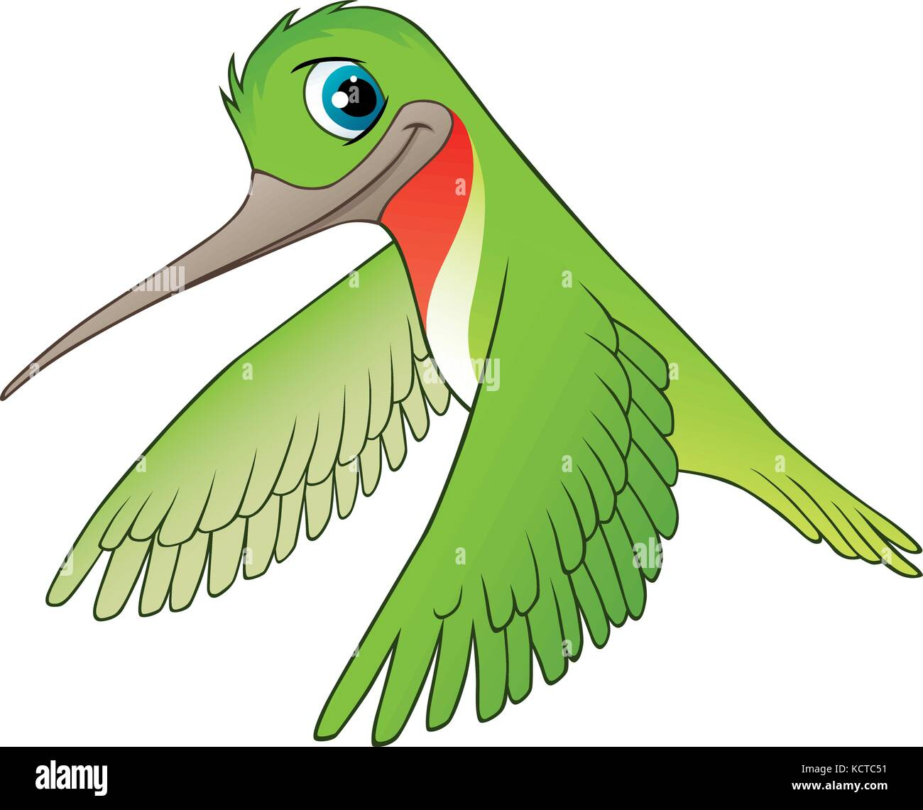 Hummingbird Cartoon Vector Illustration Stockfotos & Hummingbird ...