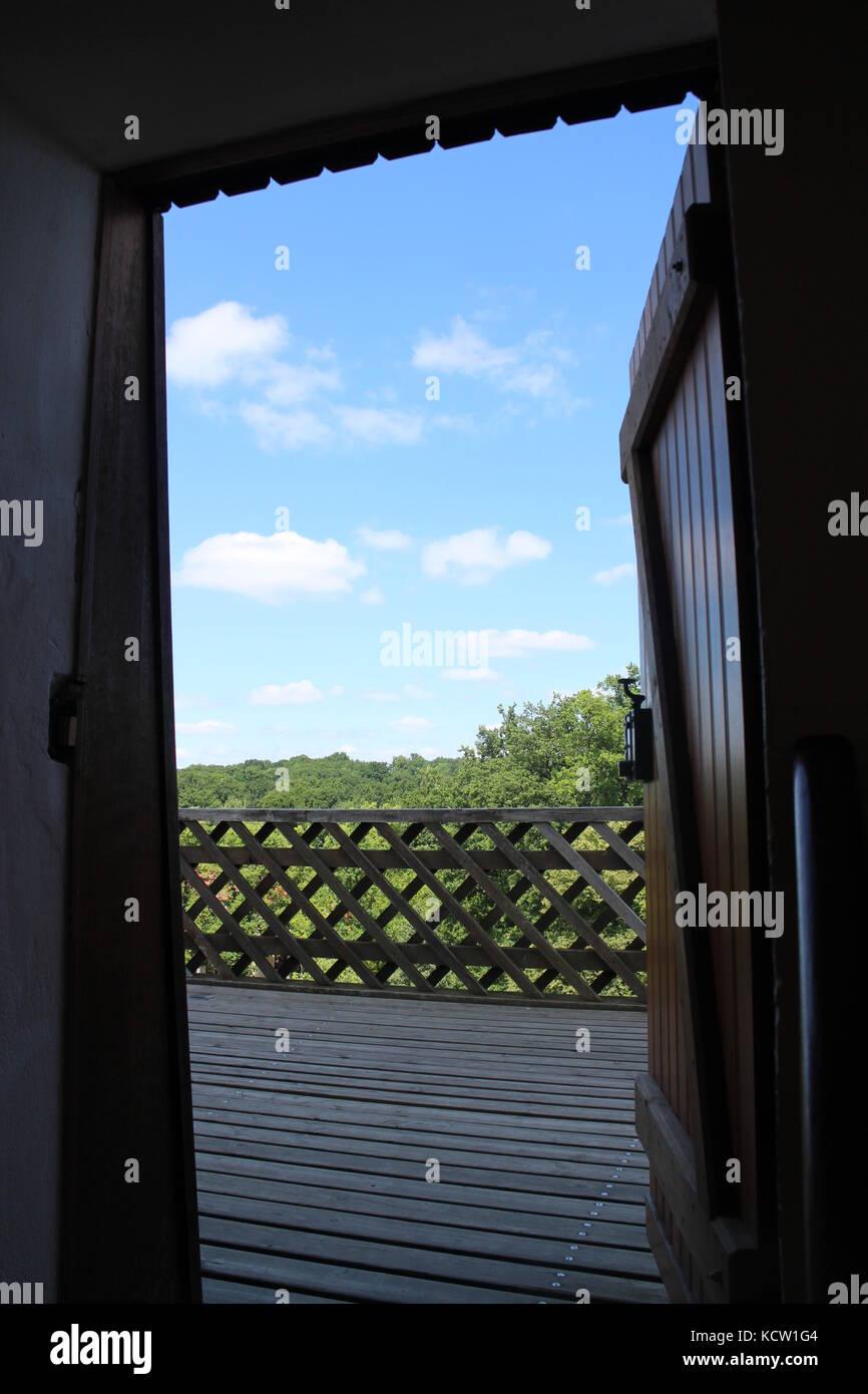 Die Tür öffnen für Sie Stockfoto