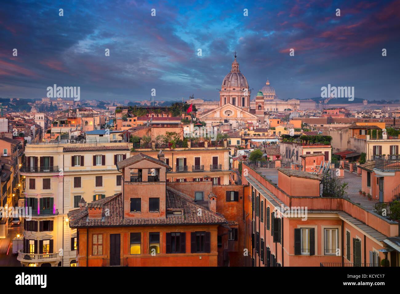 Rom. stadtbild Bild von Rom, Italien bei Sonnenaufgang. Stockbild