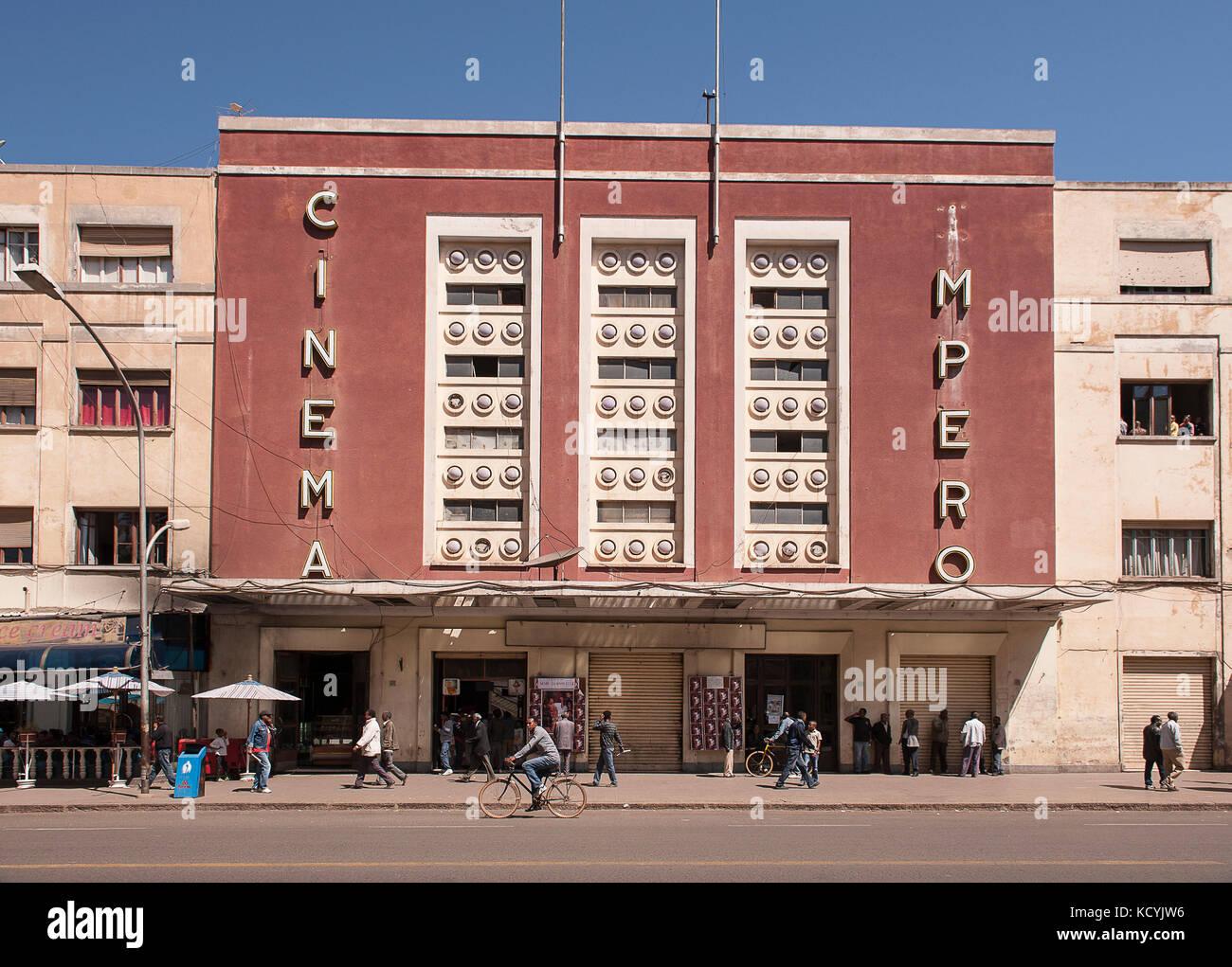 Vue de l'une des 30 Salles de Kinos Deutschlands existent ein Asmara, le 24 Fevrier, Erythree. Blick auf eine Stockbild