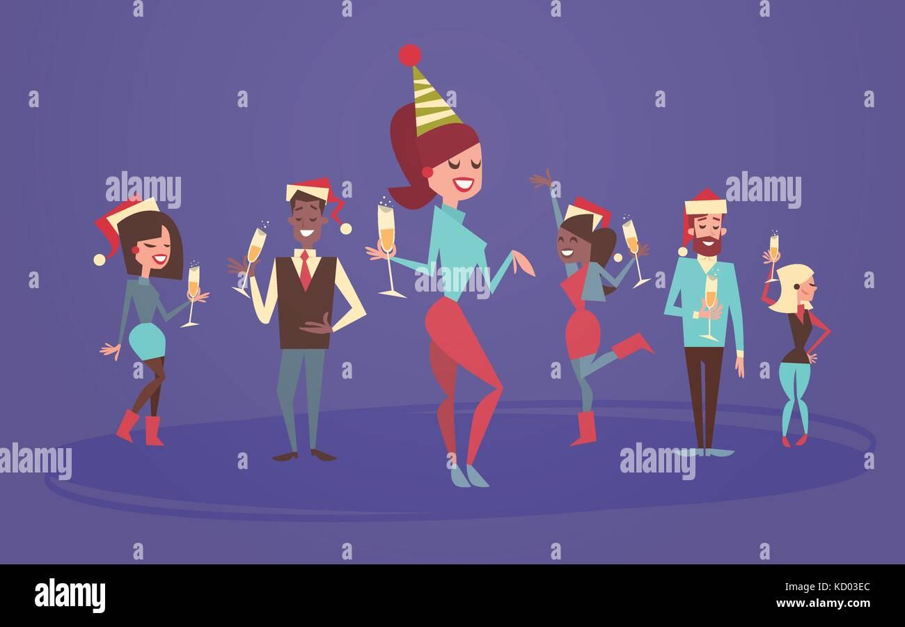 Frohe Weihnachten Männer Bilder.Die Menschen Feiern Frohe Weihnachten Und Guten Rutsch Ins Neue Jahr